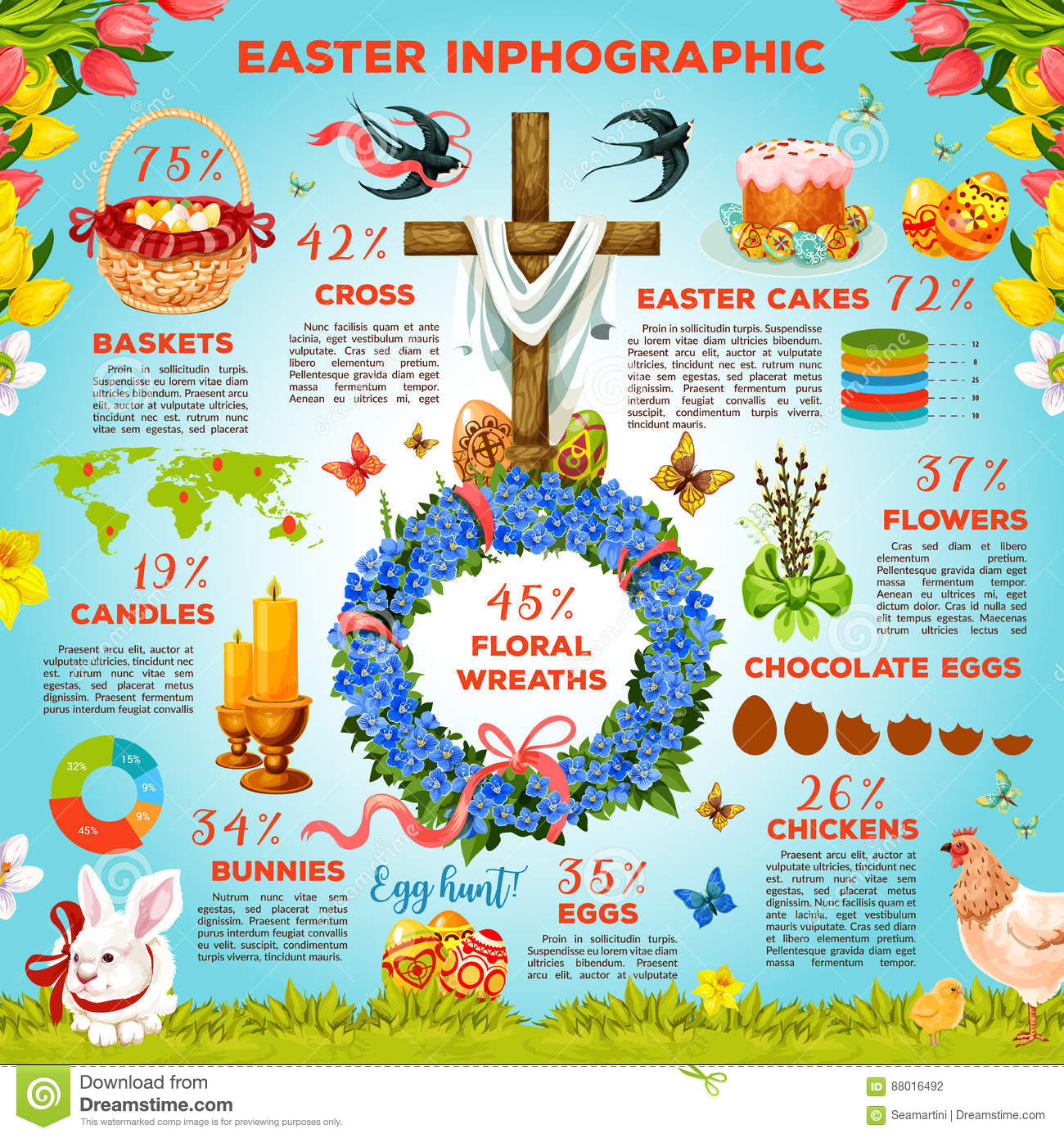Easter symbols infographic template design stock vector easter symbols infographic template design maxwellsz