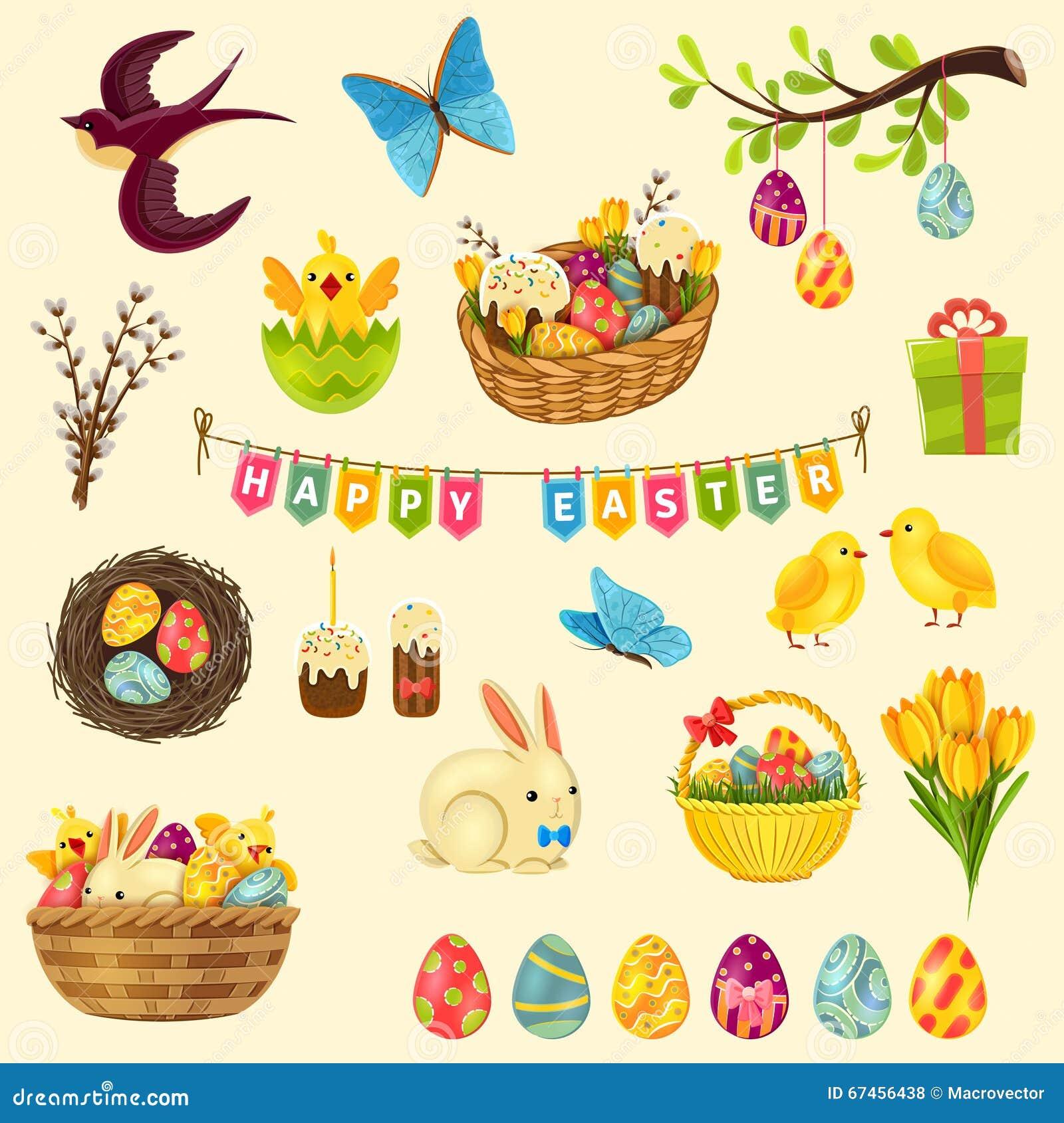 Easter symbols set stock vector illustration of jesus 67456438 easter symbols set biocorpaavc