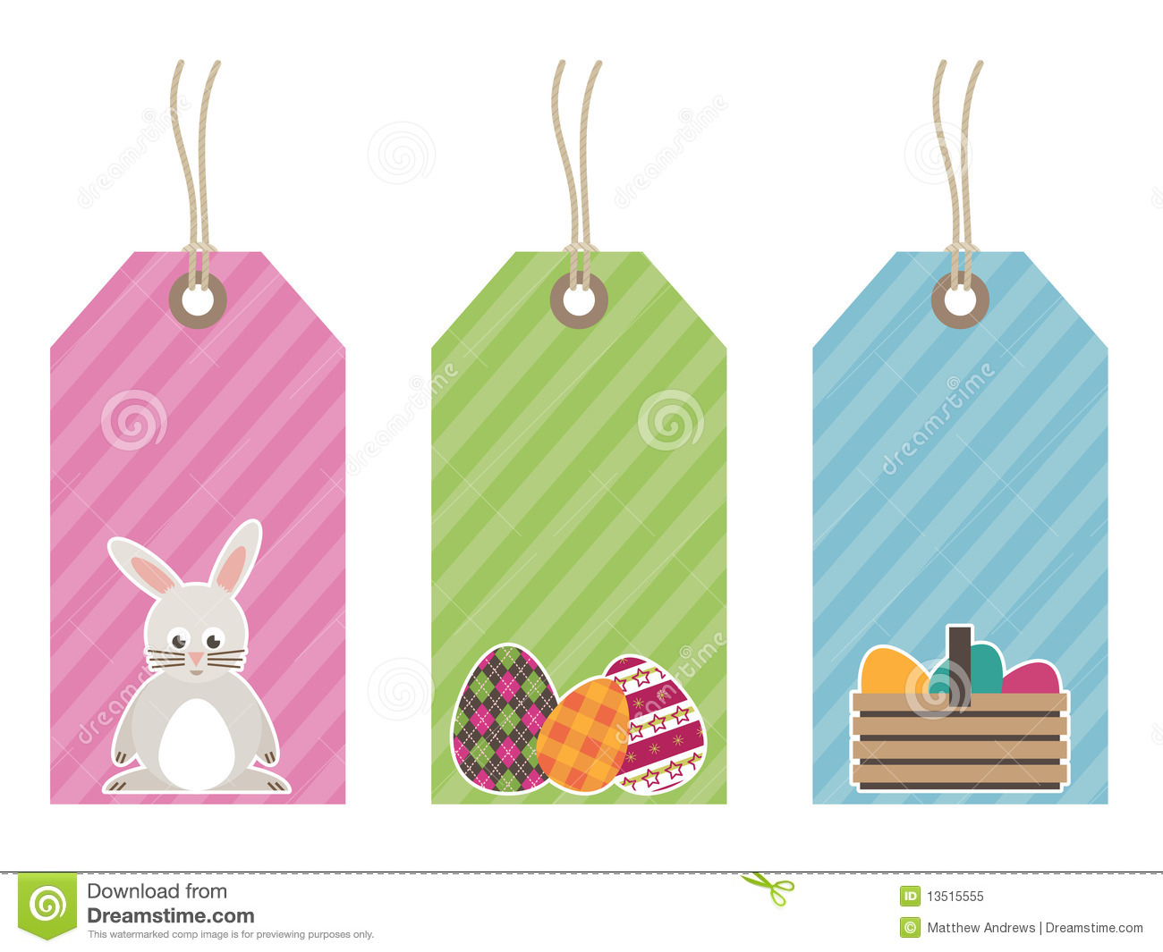 Easter Tags Royalty Free Stock Photo - Image: 13515555