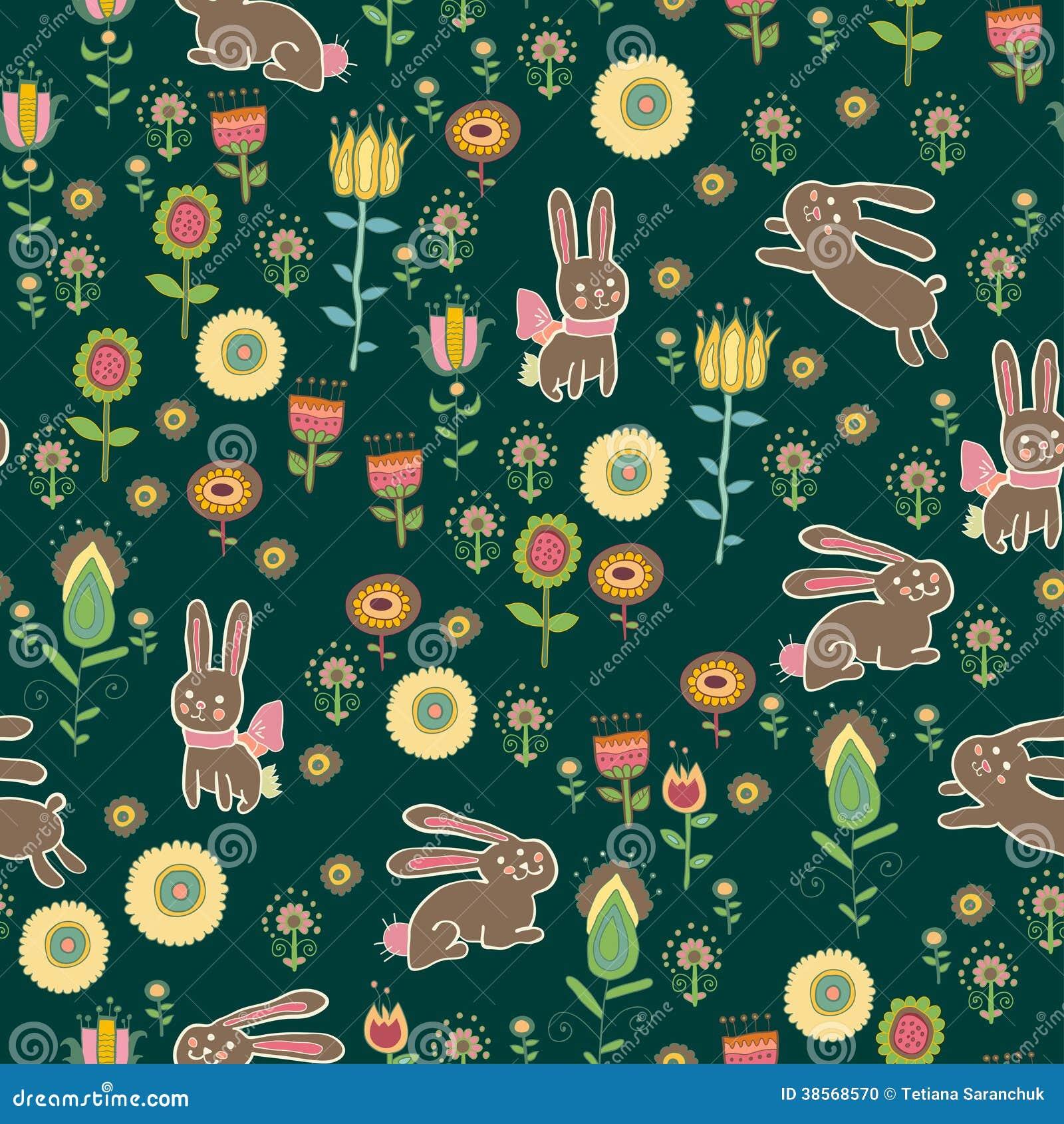 easter themed seamless pattern background stock illustration