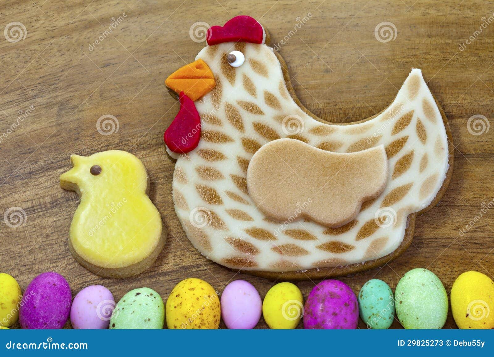 Biscoitos do pão-de-espécie de Easter.