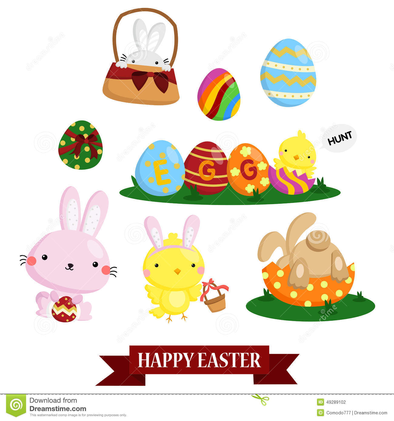 An Easter Vector Set for easter holiday xa0r44rE