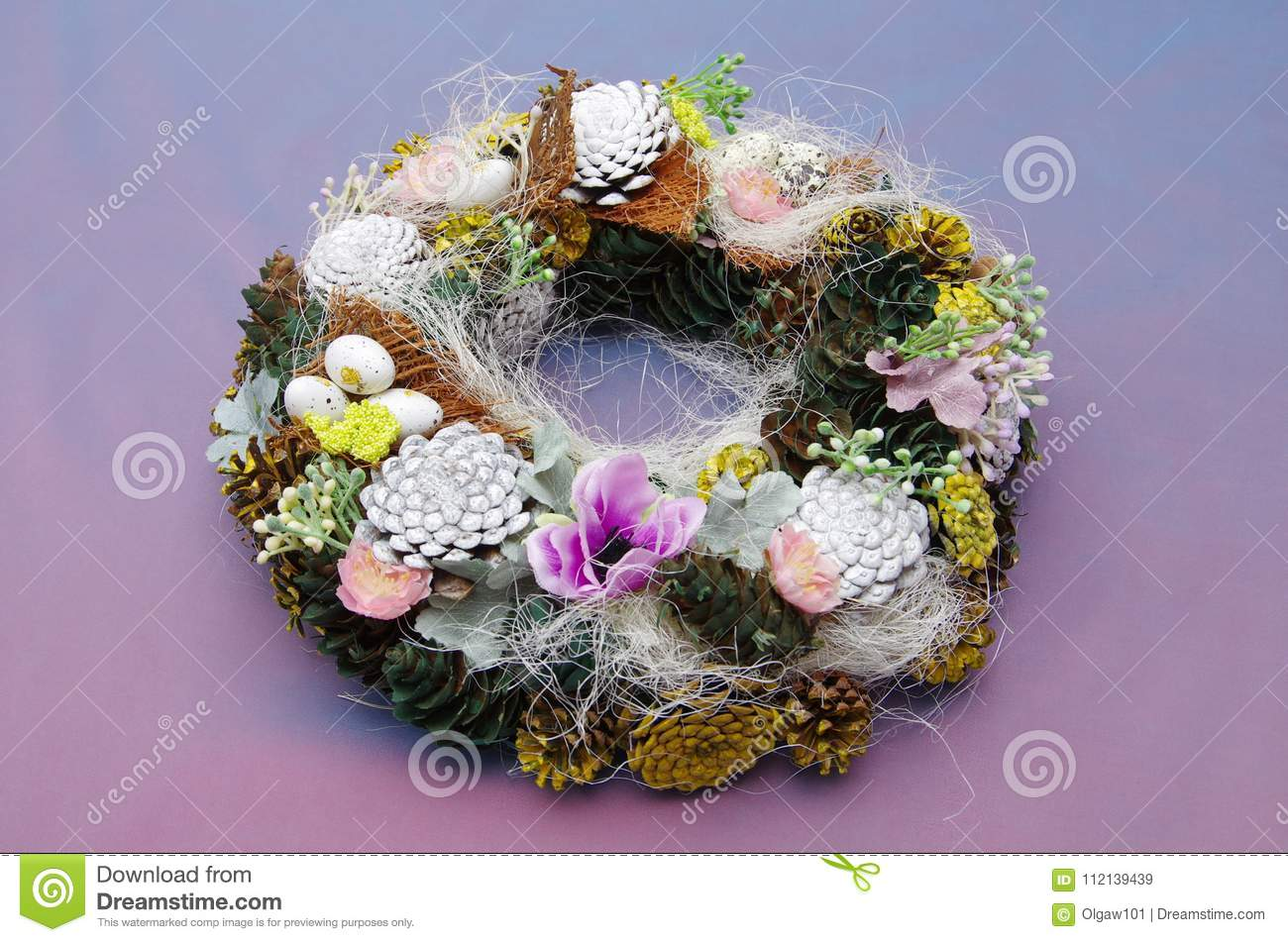 Easter Wreath Of Spring Theme Decor For A House In The Spring Style