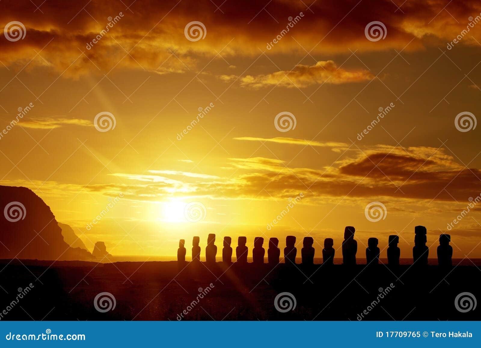 Easter wyspy wschód słońca