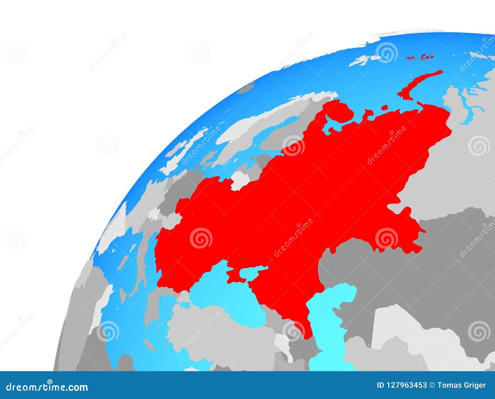 Image of: Eastern Europe On Globe Stock Illustration Illustration Of East 127963453