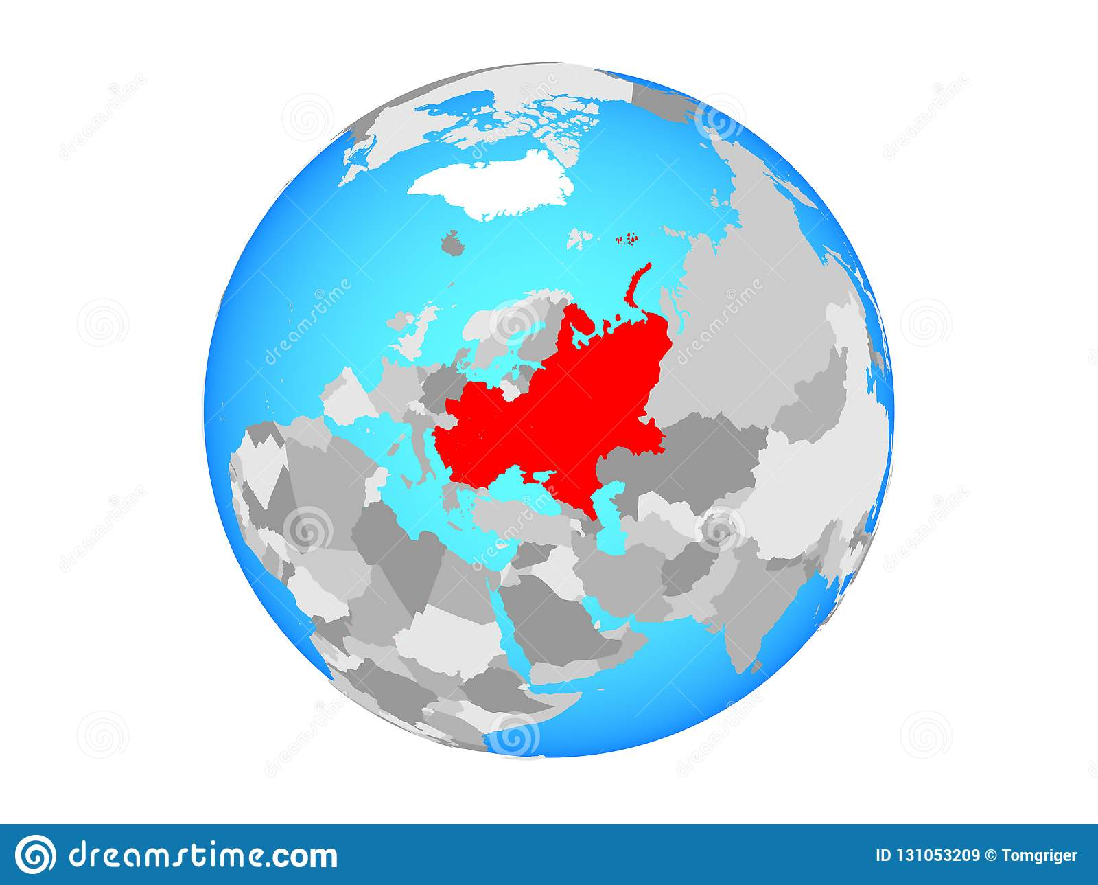 Image of: Eastern Europe On Globe Isolated Stock Illustration Illustration Of Sphere Europe 131053209
