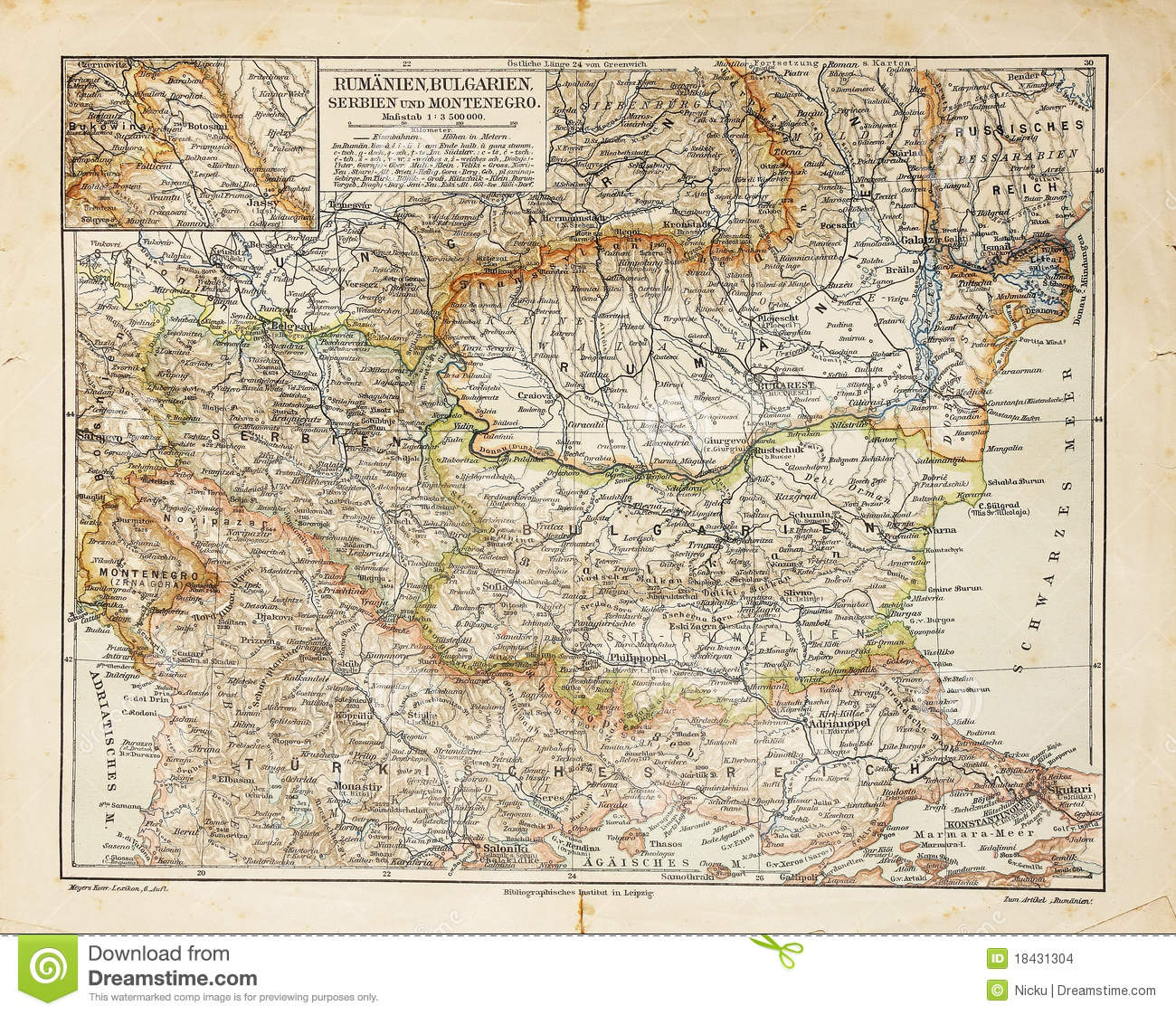Eastern Europe old map stock photo. Image of ancient - 18431304
