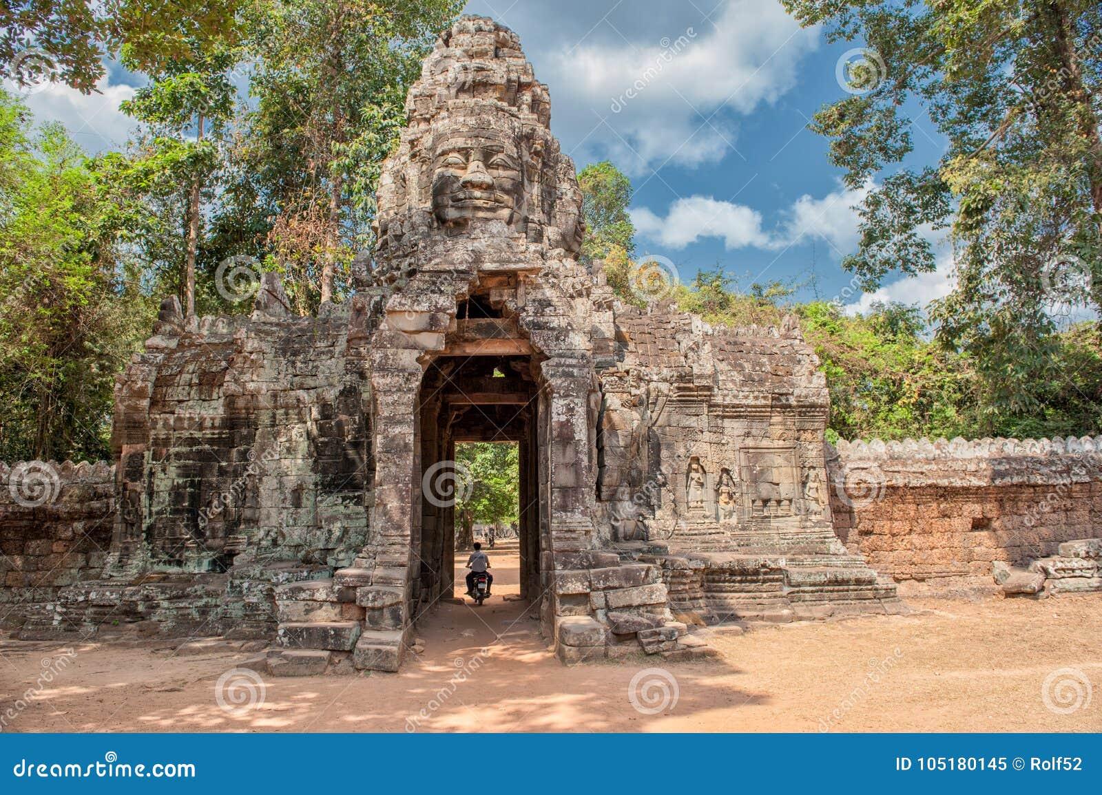 Eastern gate of Banteay Kdei in Siem Reap, Cambodia