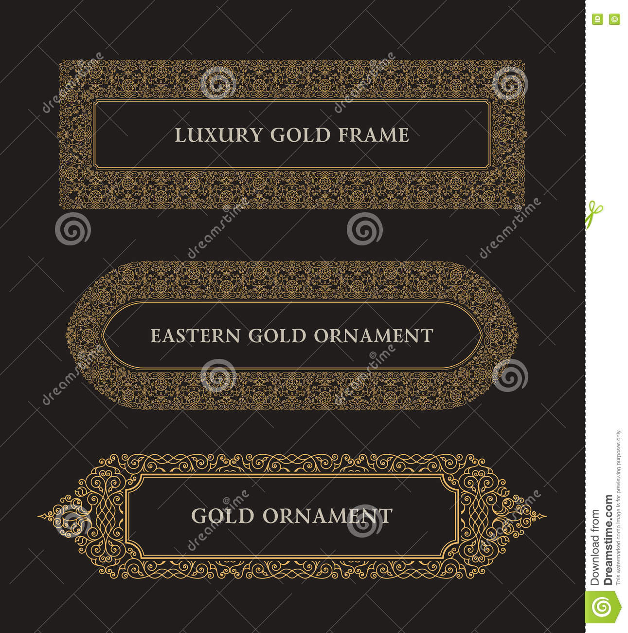 Eastern gold arabic vector lines design templates muslim for Muslim will template