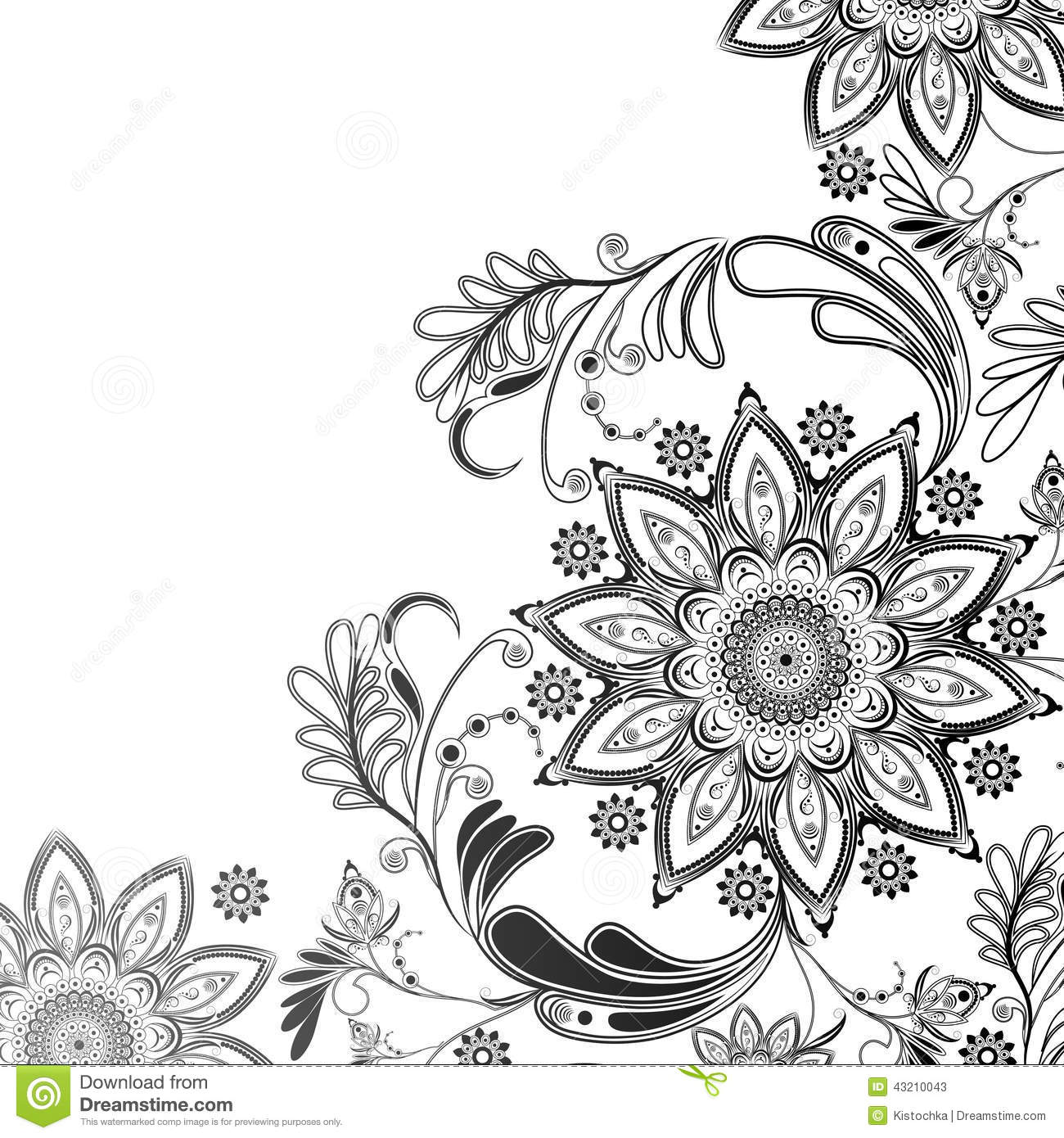 Eastern motif in black and white