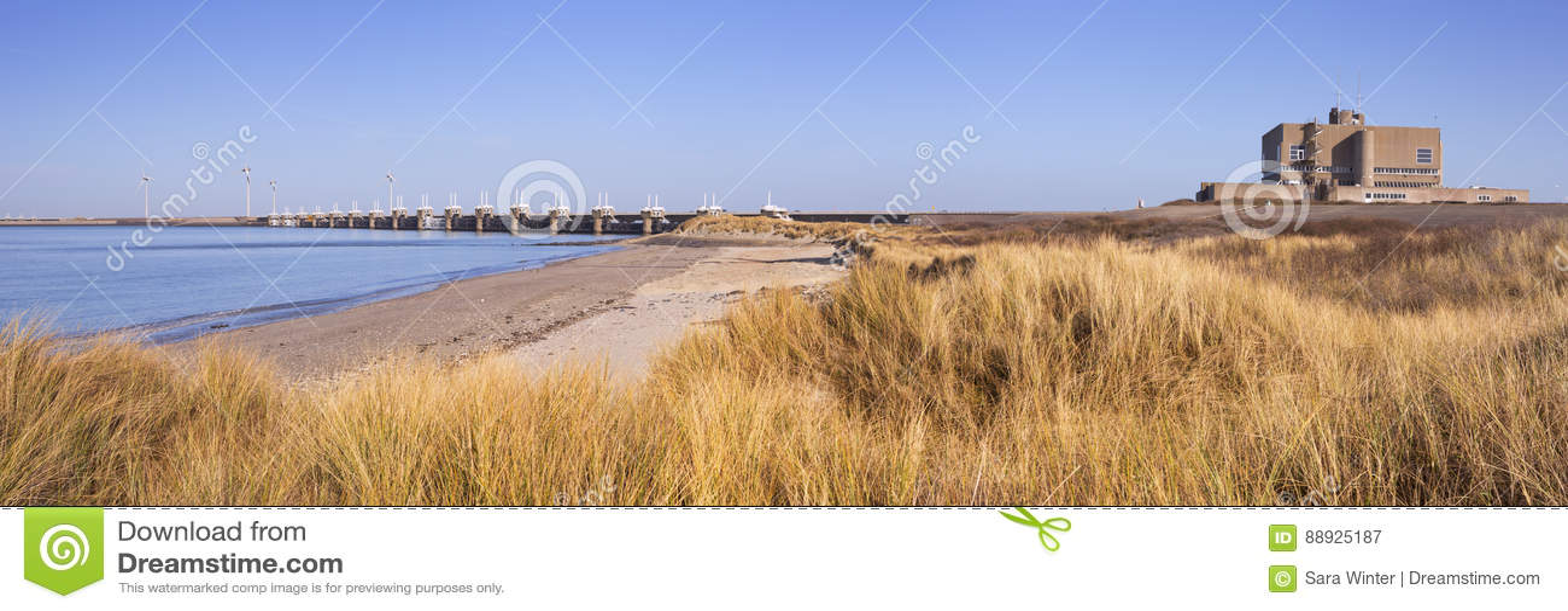 Eastern Scheldt Barrier at Neeltje Jans in The Netherlands