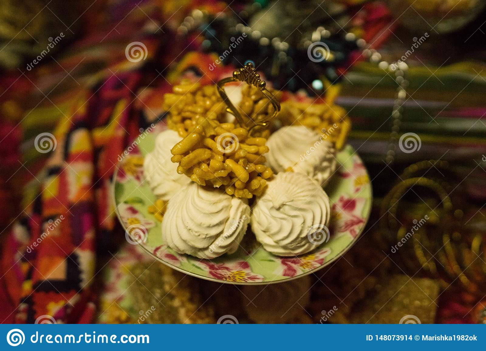 Eastern sweets in a vase