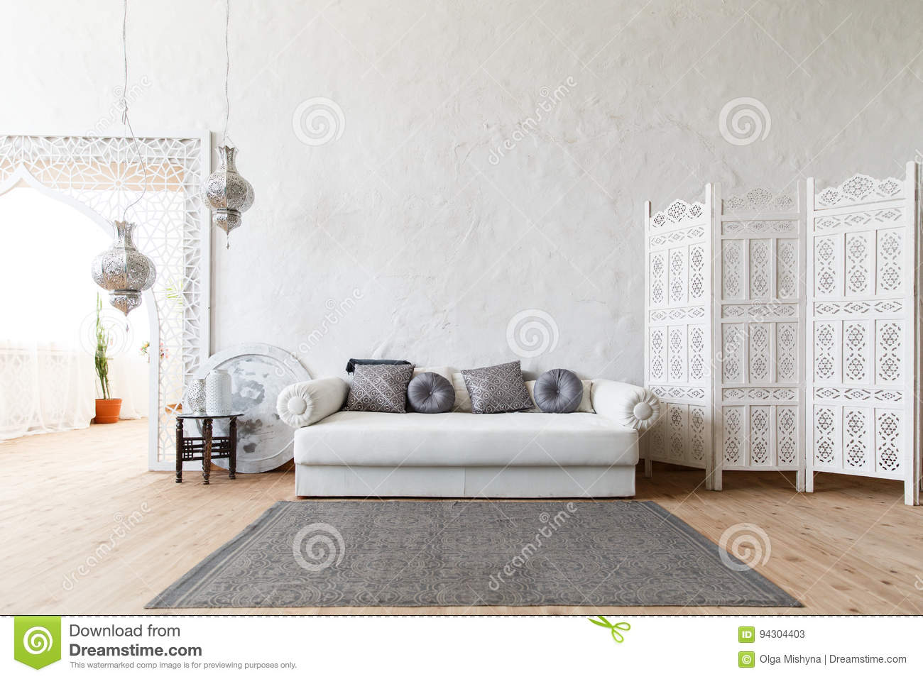 Eastern Traditional Interior. Morocco Style Room Stock Image - Image ...