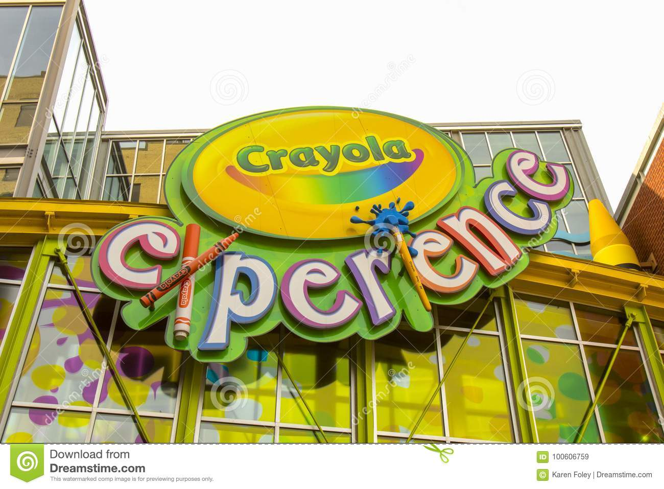 Crayola Factory Experience Exterior Editorial Stock Image - Image of ...
