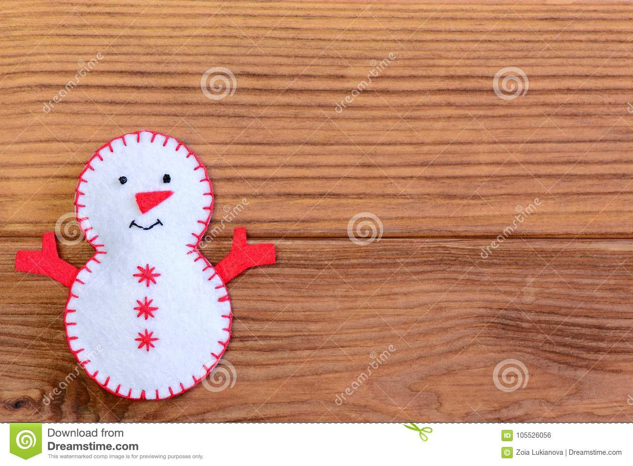 Merry Christmas Background Funny Christmas Snowman Decoration On A