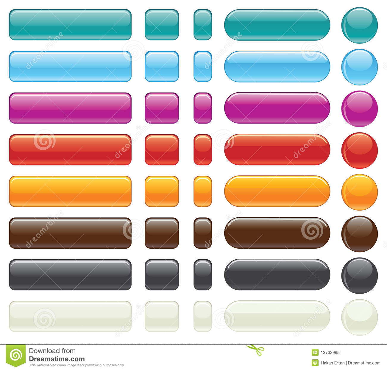 Easy Editable Website Buttons-Vector Royalty Free Stock Photo ...