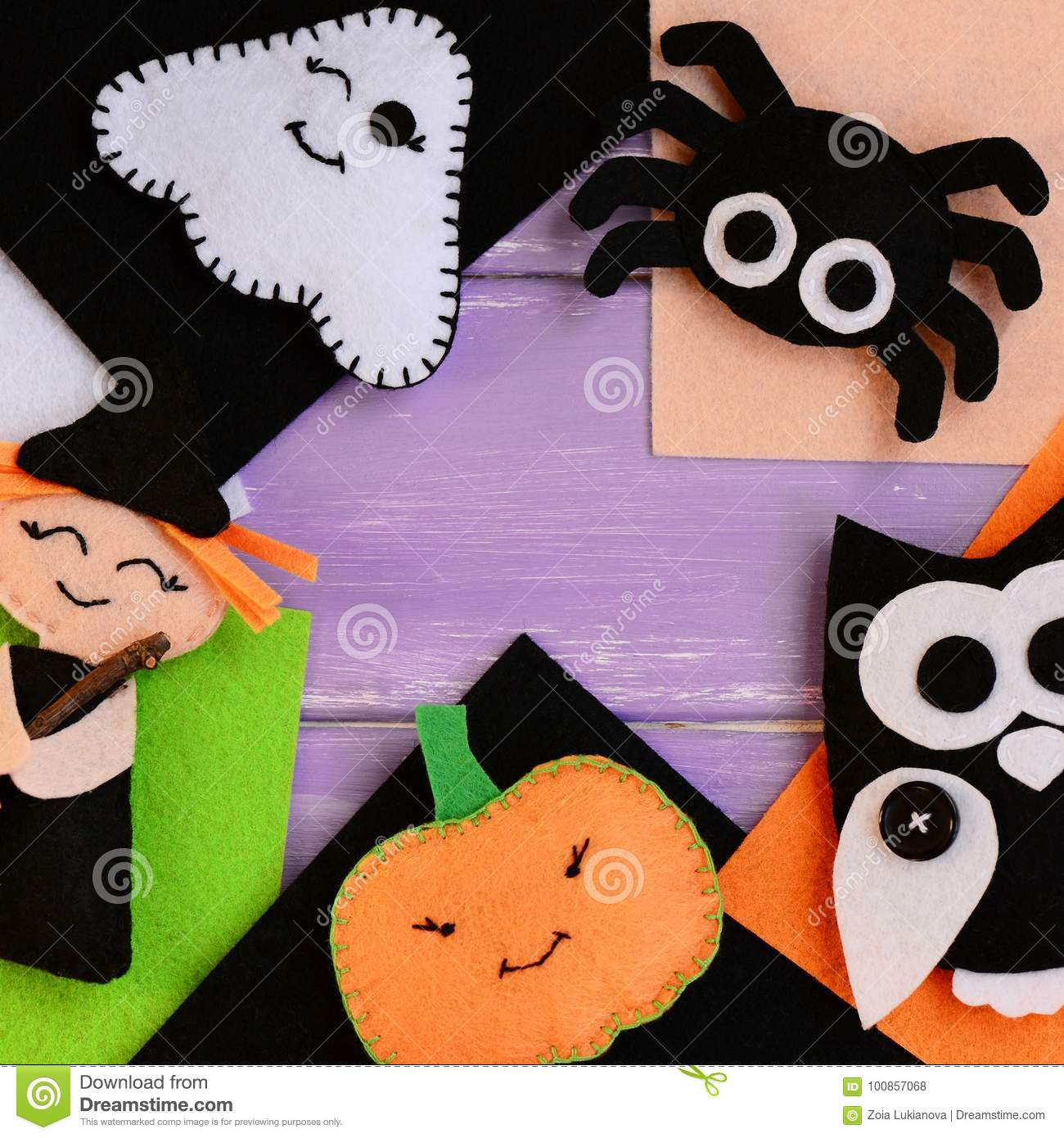 Halloween Crafts Made Of Felt Felt Witch Ghost Owl