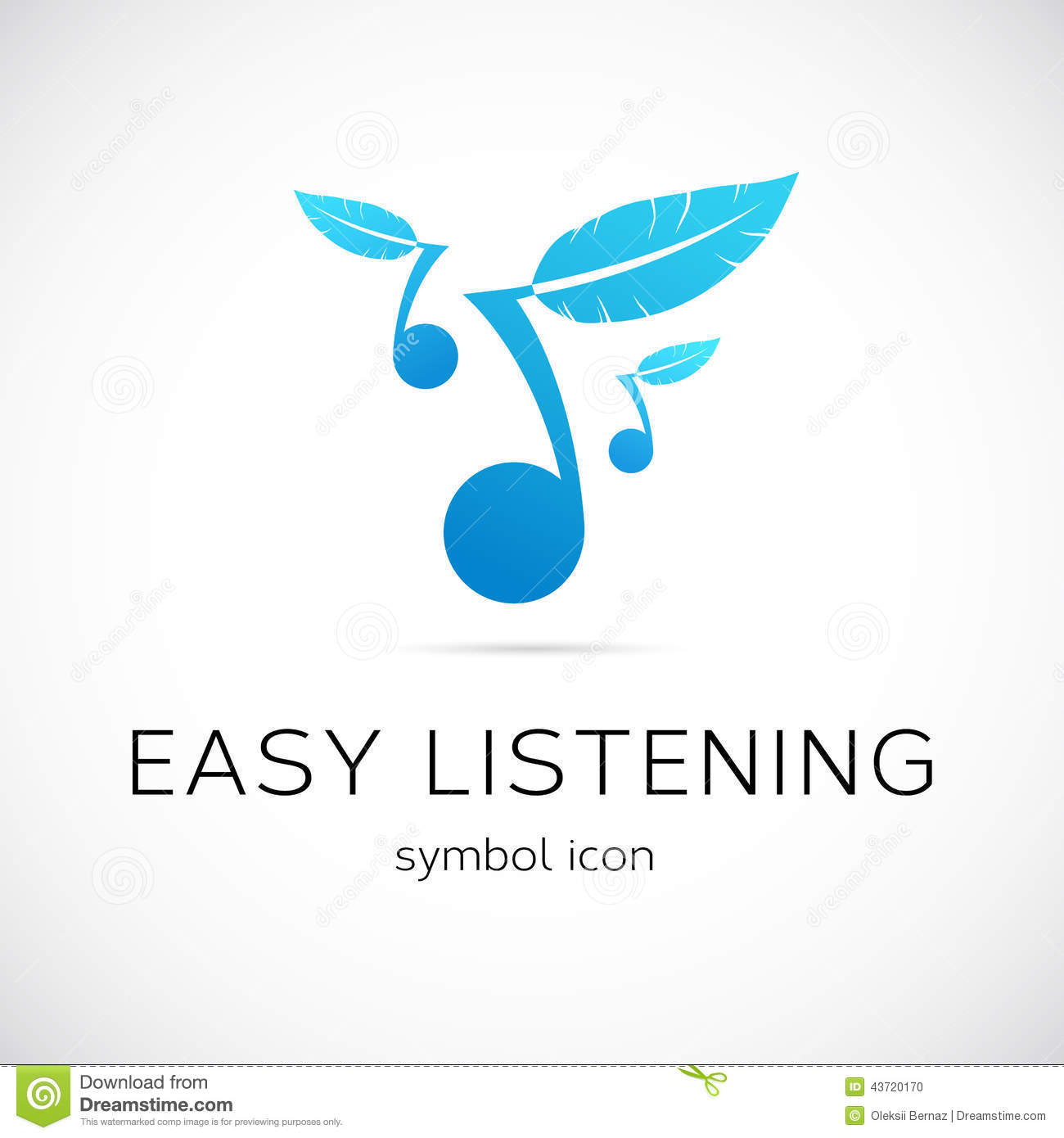 Easy Listening Music Vector Concept Symbol Icon Stock Image
