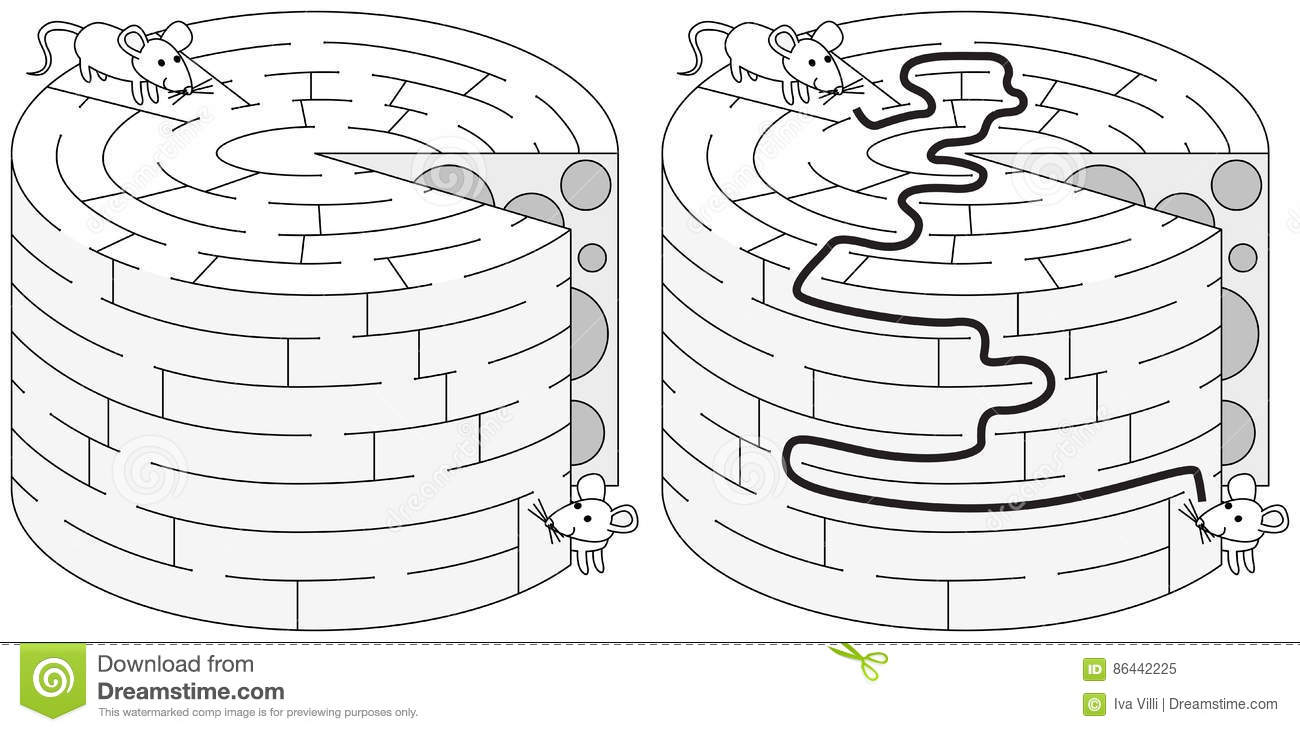 maze mouse and cheese pdf