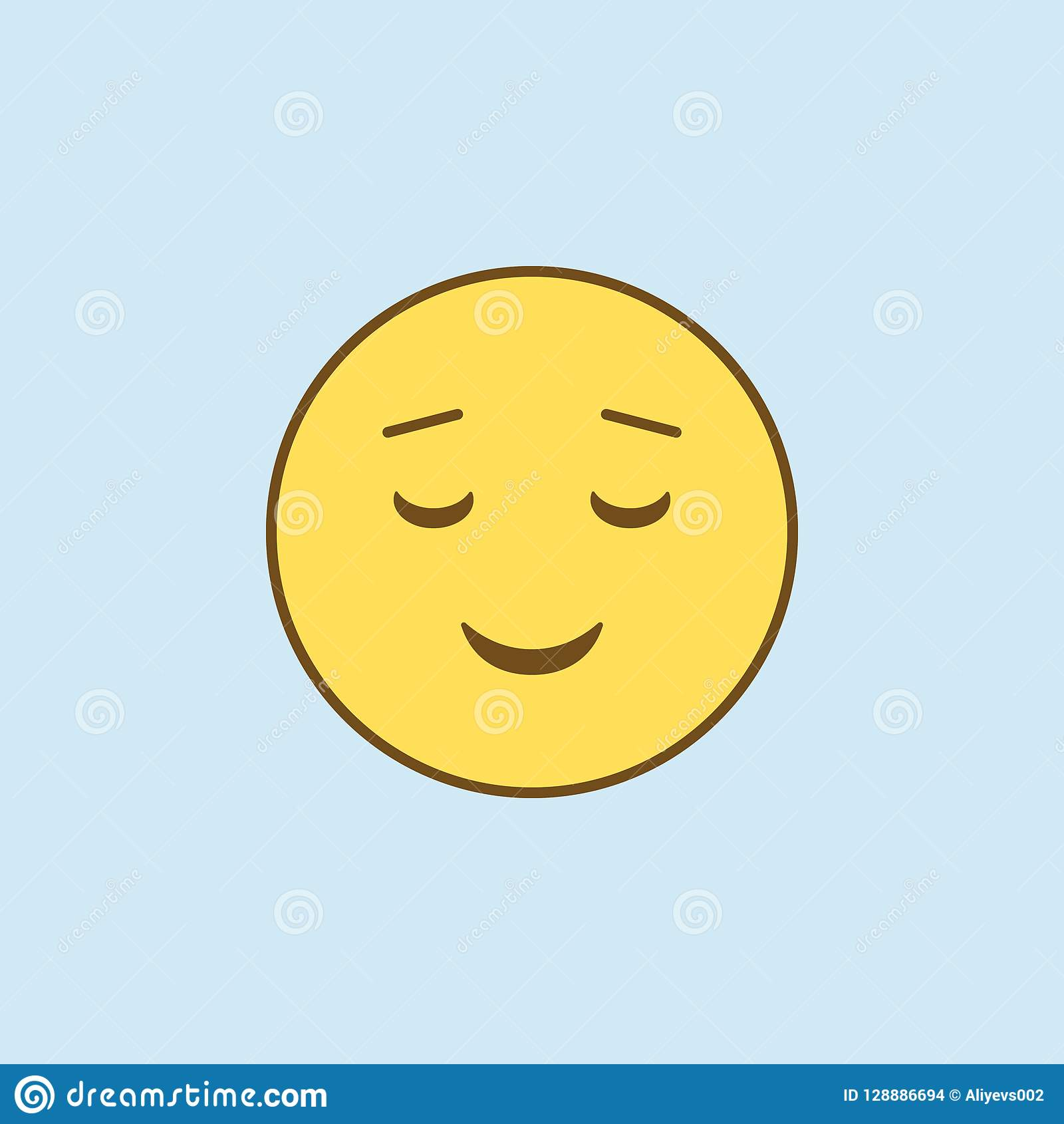 Easy Pleasant Smile 2 Colored Line Icon  Simple Yellow And