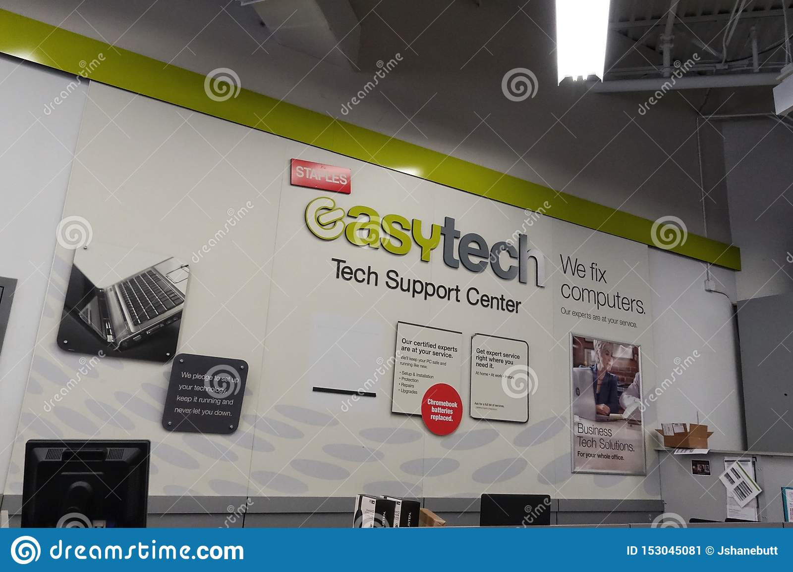 Easy Tech department at Staples
