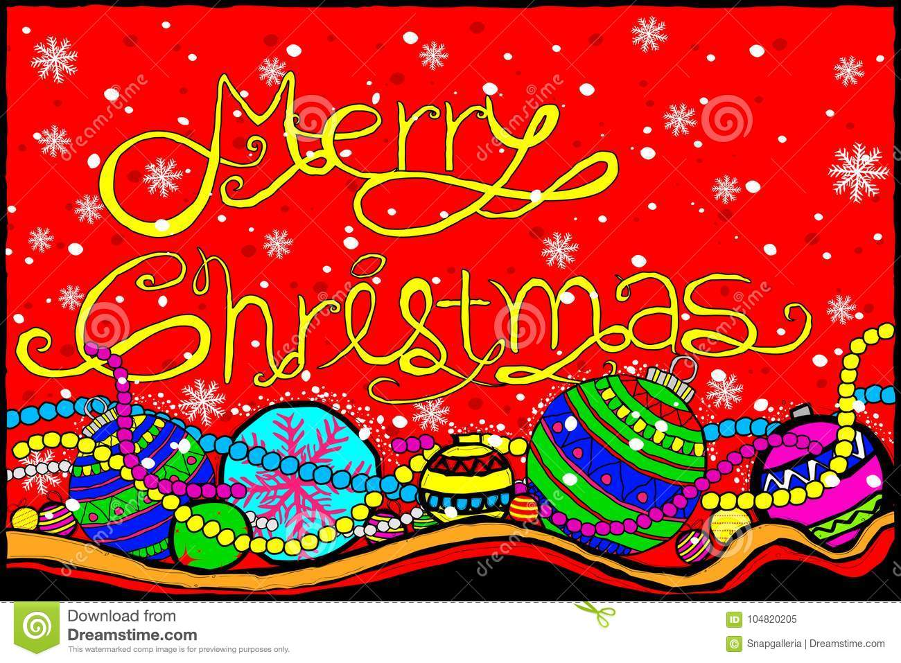 Merry Christmas And Happy New Year Holiday Greetings Background