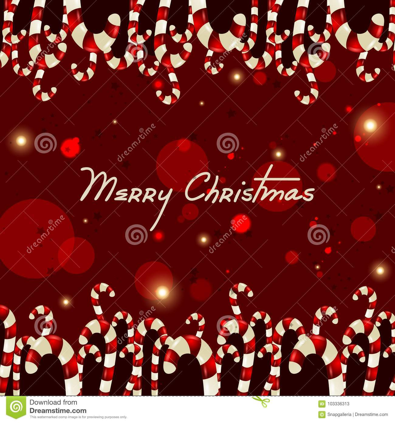 Sweet Colorful Candy For Happy New Year And Merry Christmas Greeting