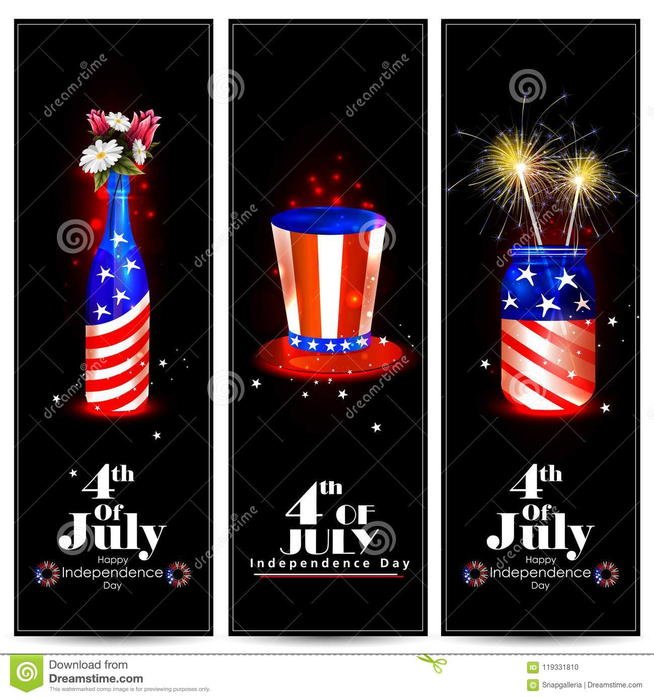 download 4th of july independence day of america background stock vector illustration of flower