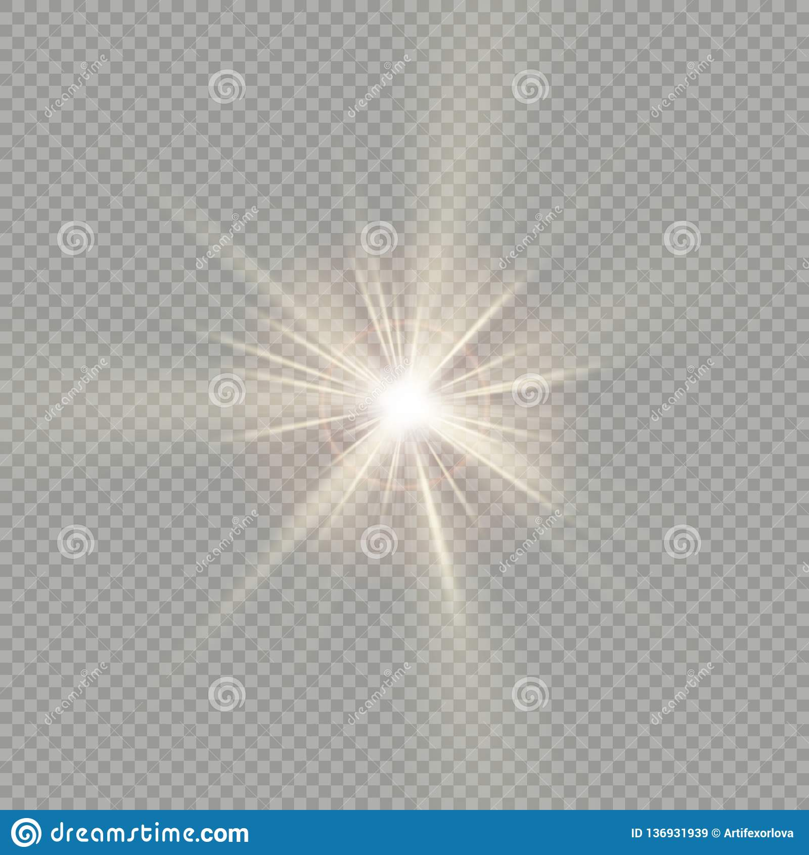 Easy to use. Effect of sunlight special lens flare light. EPS 10