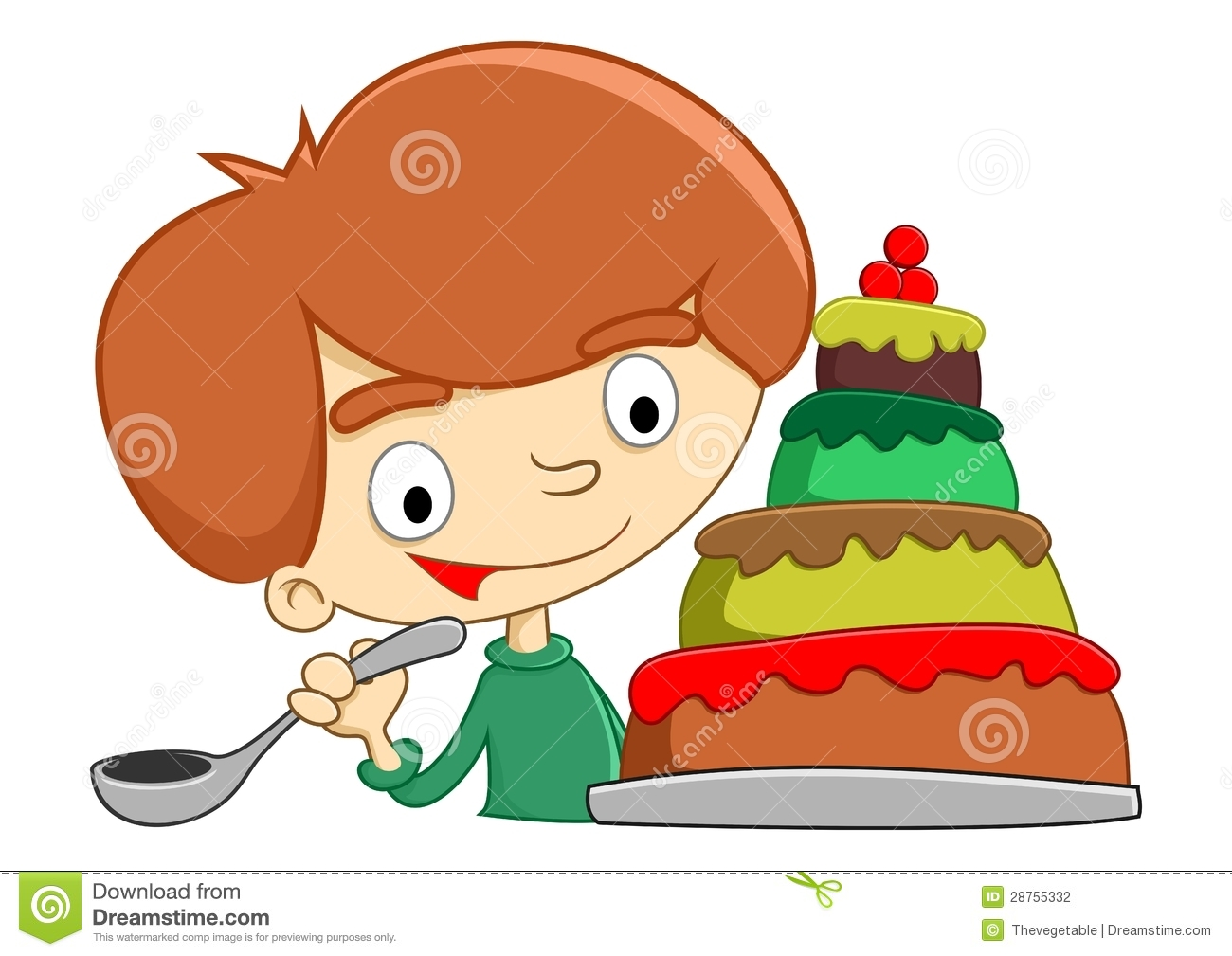 Baby Eating Cake Clipart : Eat Cake Stock Photography - Image: 28755332
