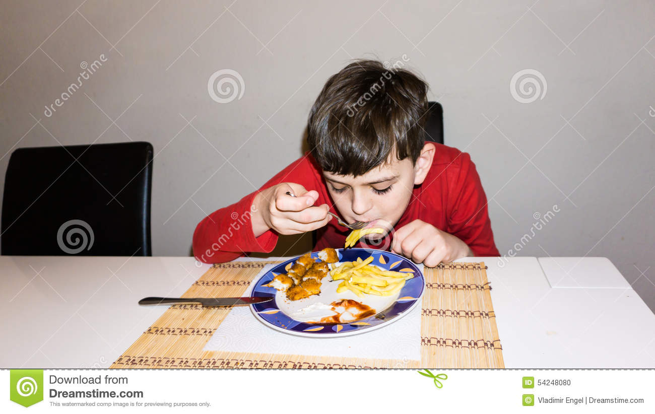 Eating autistic boy health nutrition child food son