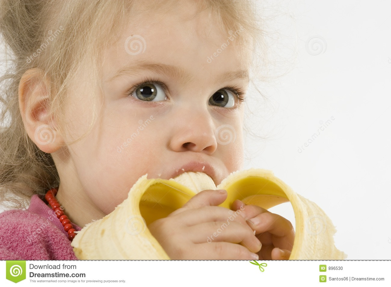 Eating Banana Stock Photo - Image: 896530