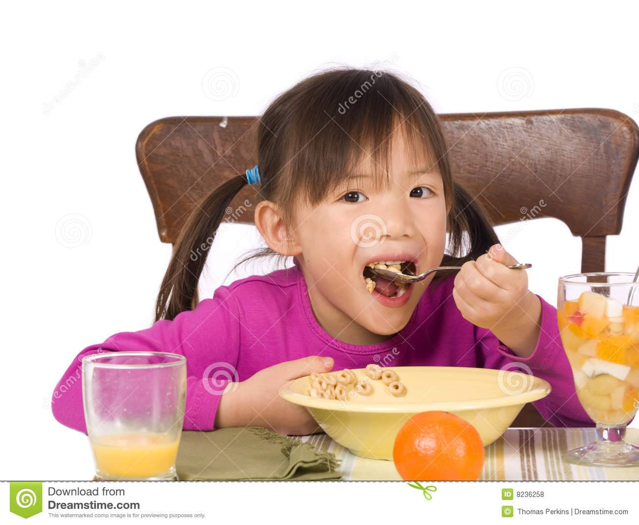 Eating Breakfast Royalty Free Stock Photos - Image: 8236258