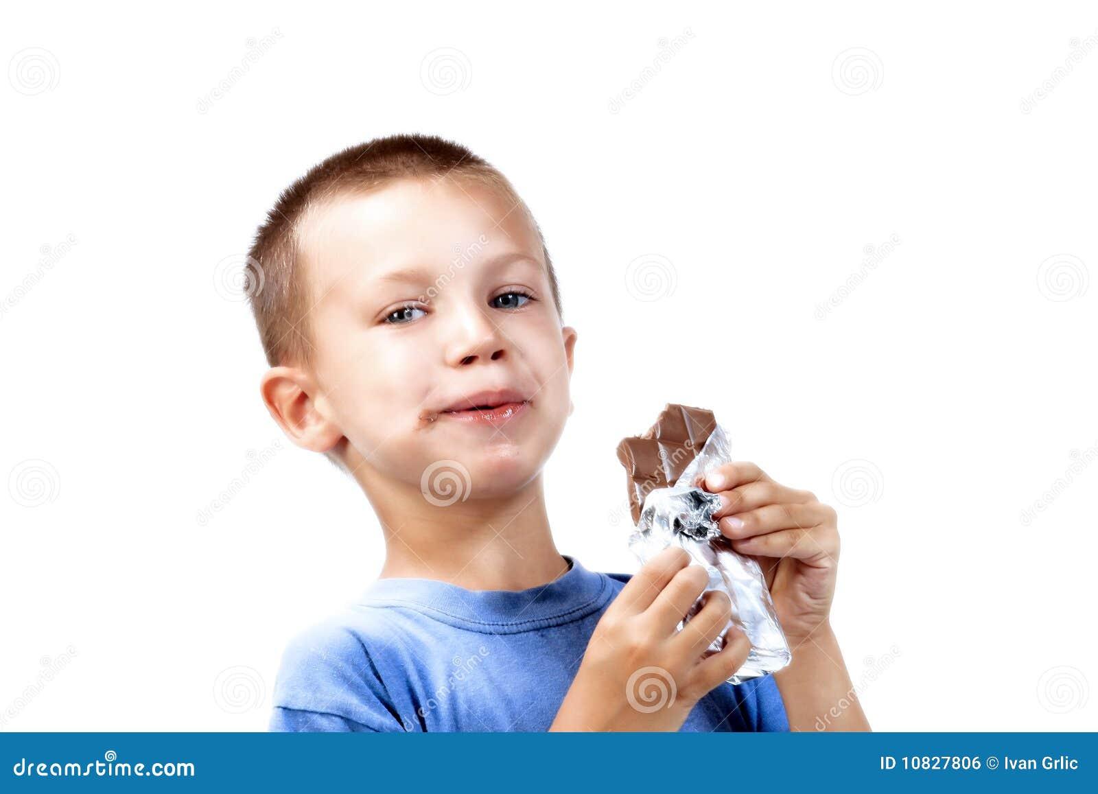 Eating Chocolate Royalty Free Stock Image - Image: 10827806