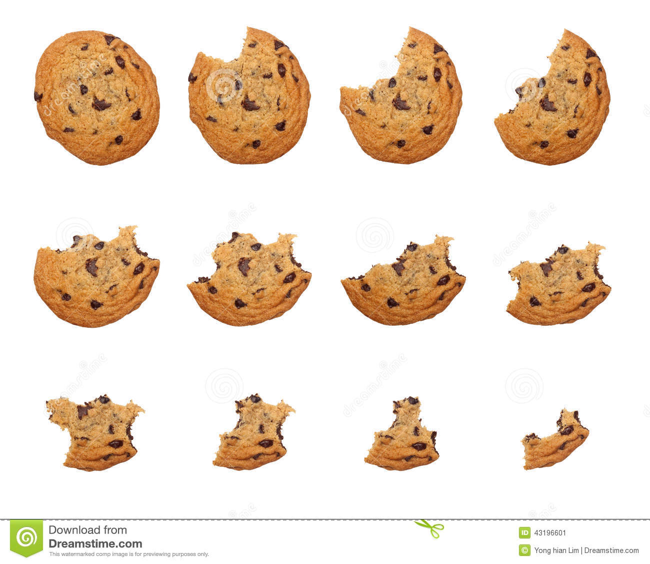 eating cookie stock photo image 43196601