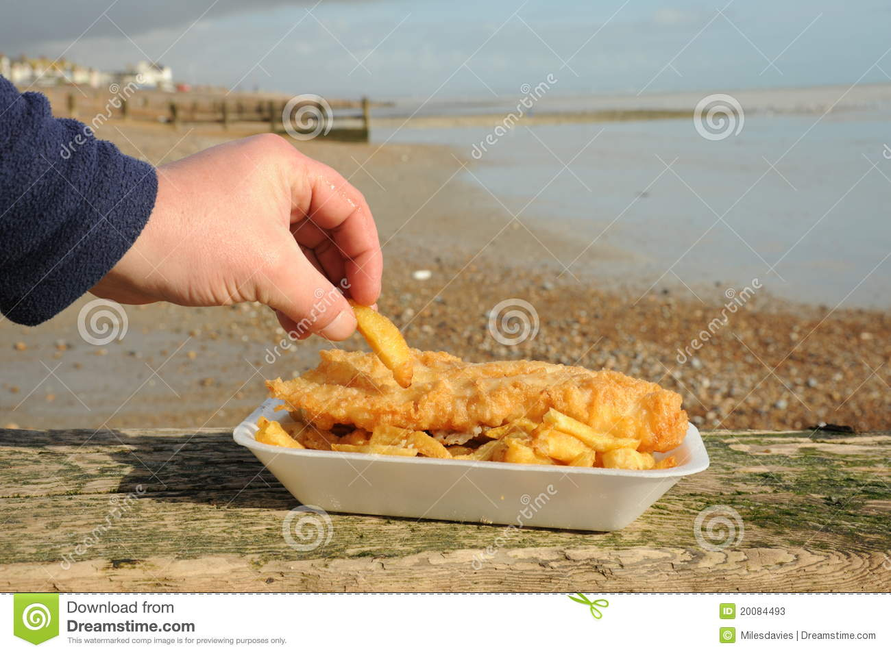 Eating fish and chips stock photos image 20084493 for Dreaming of eating fish