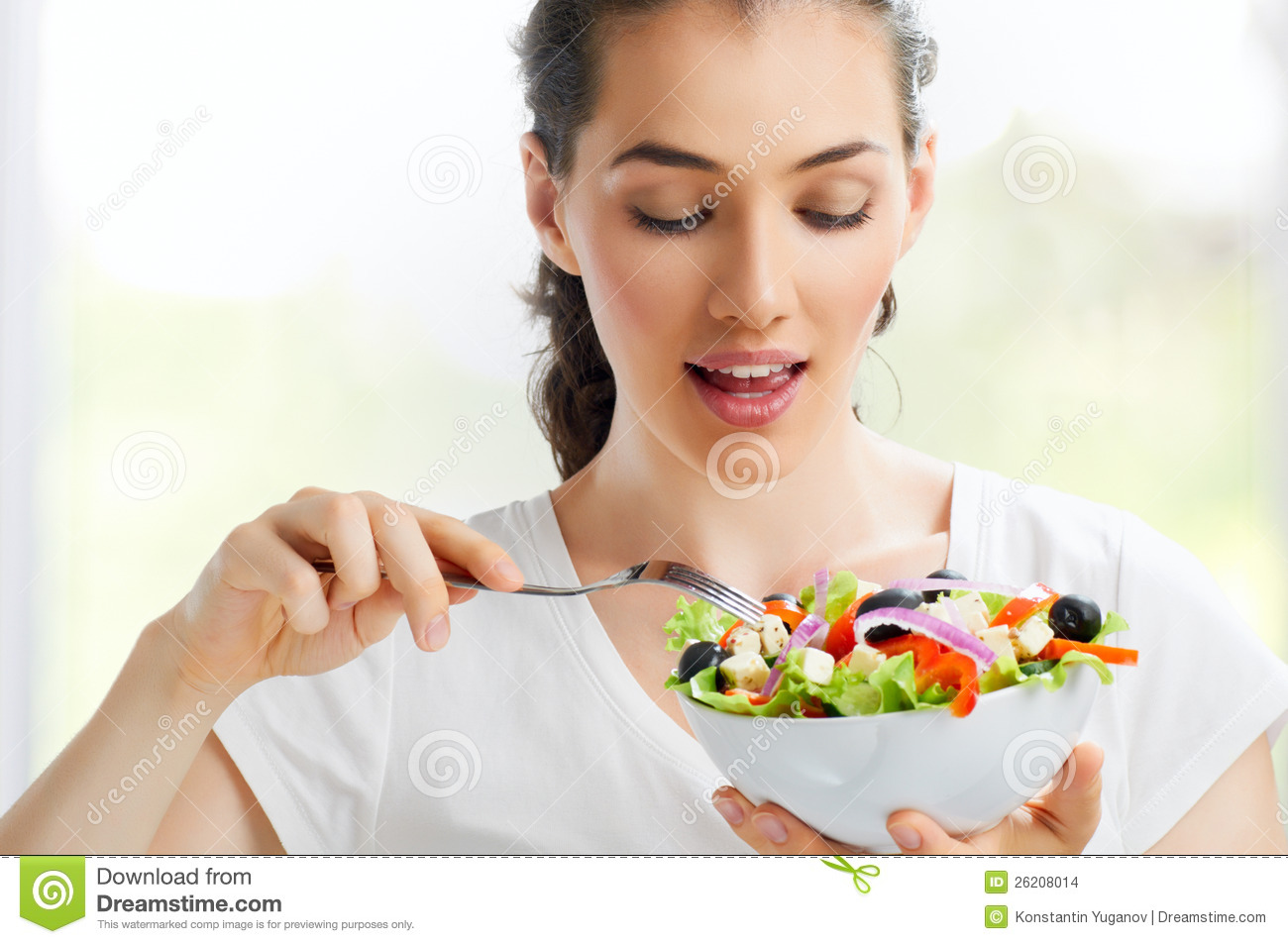 Eating Healthy Food Stock Images - Image: 26208014