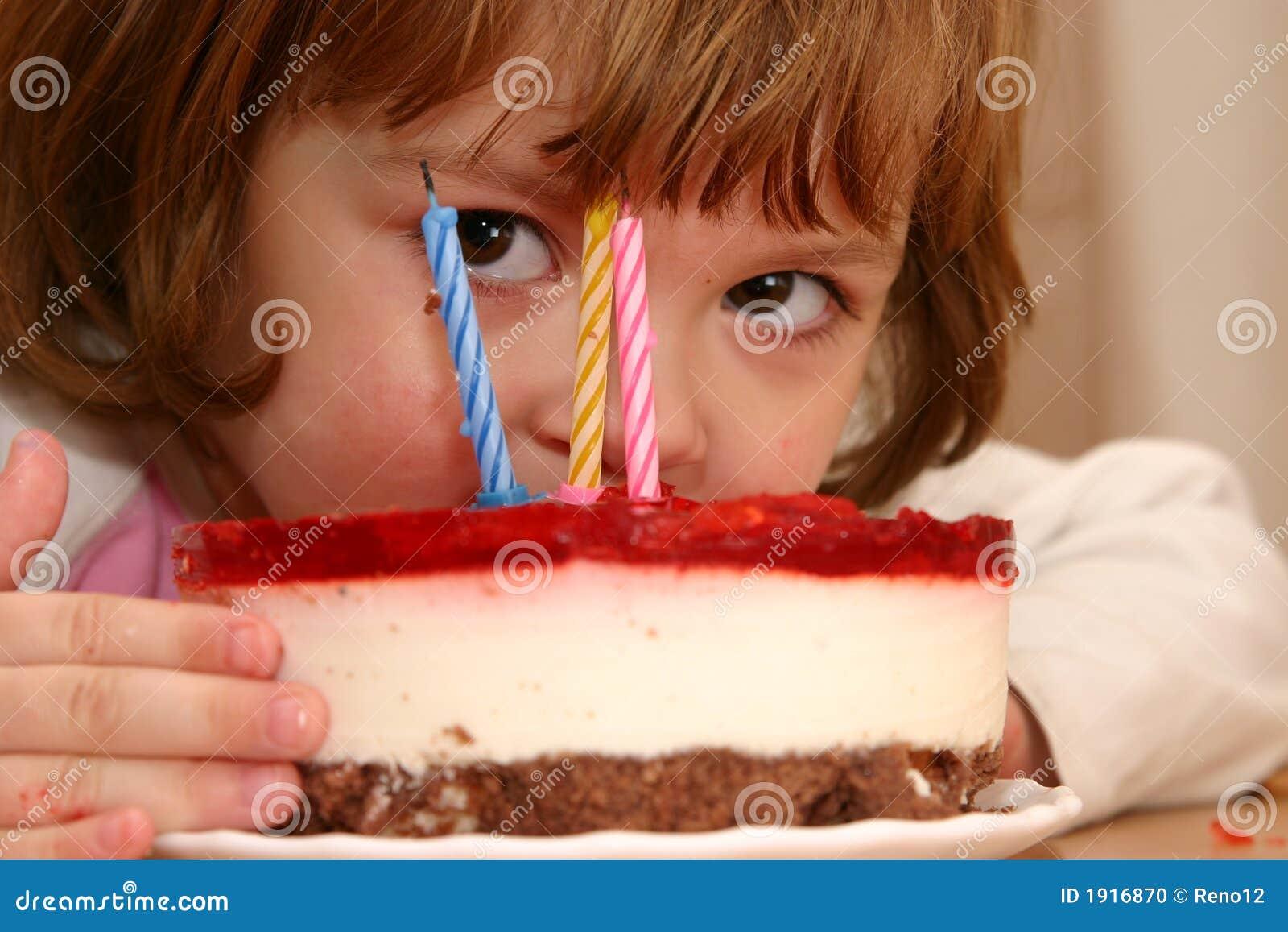 Eating My Birthday Cake Stock Photo Image 1916870