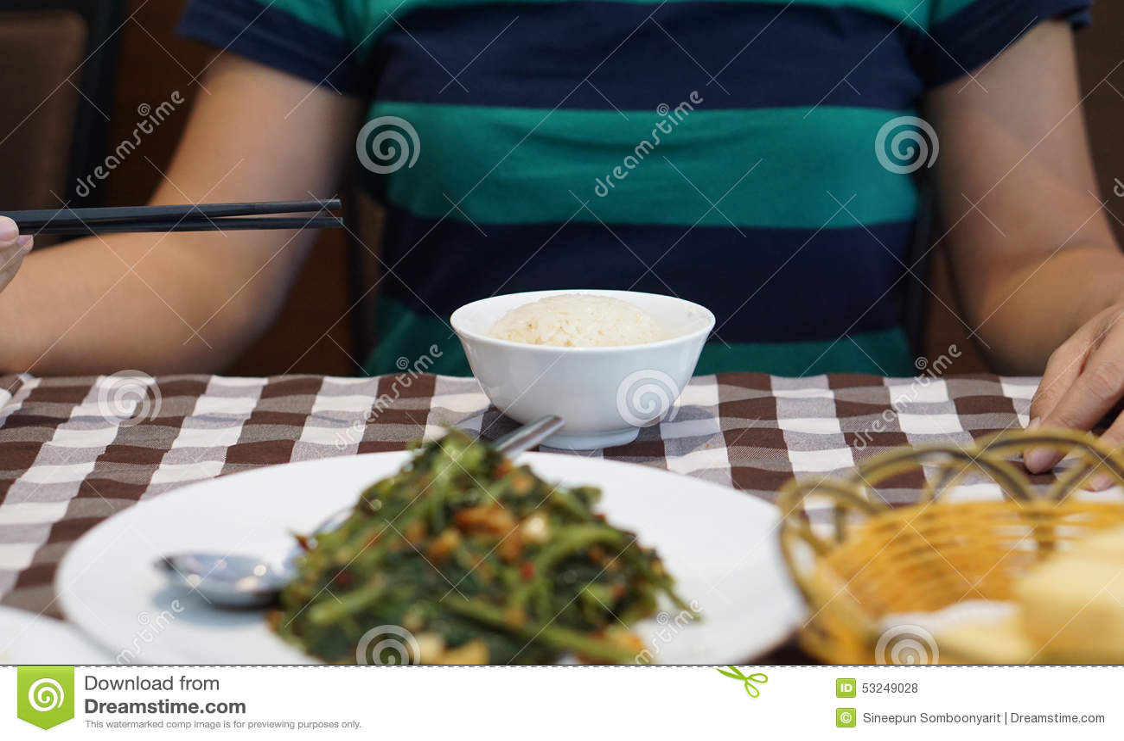 Asian Style Food Stock Photo 58796244