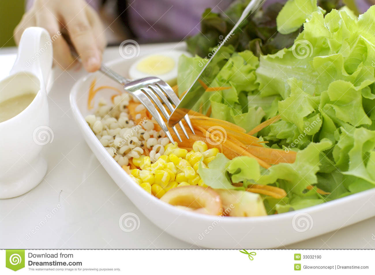Eating Salad, Healthy Meal Stock Photo - Image: 33032190