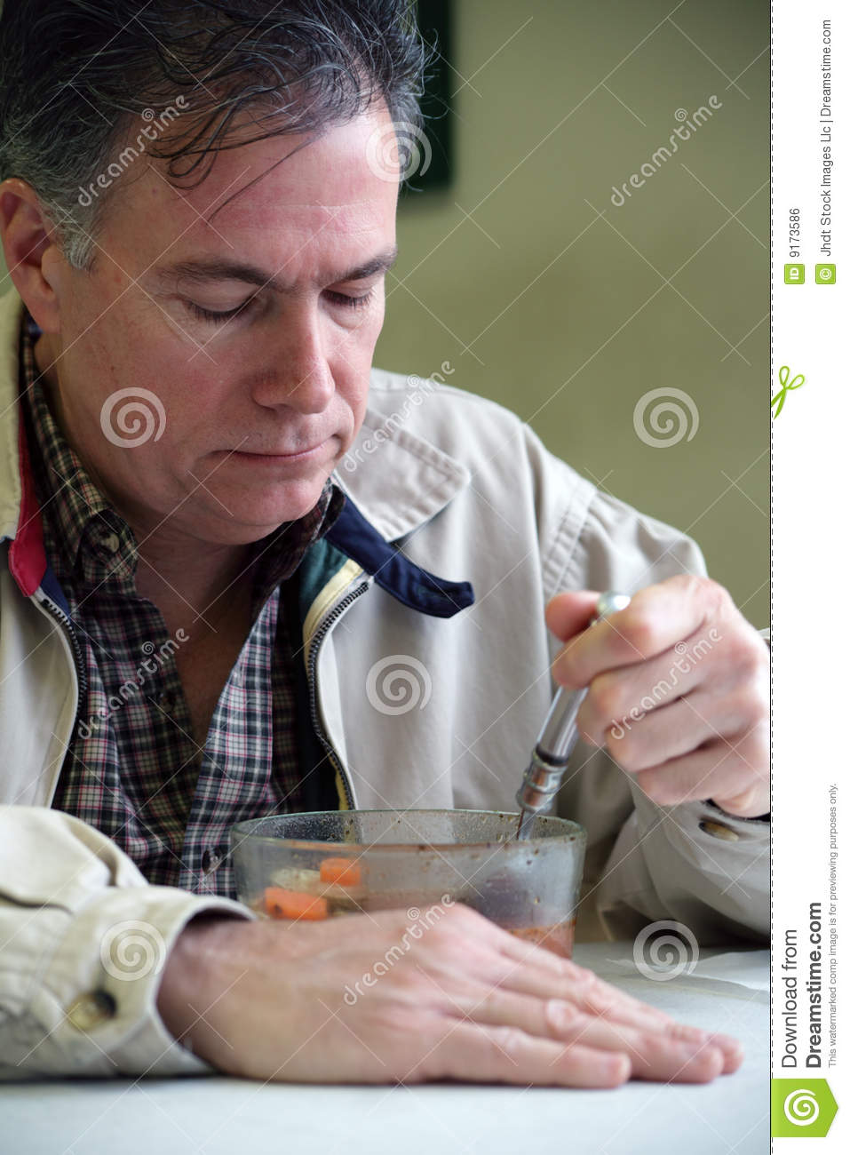 Eating Soup Stock Photo. Image Of Ordinary, Bowl, Health