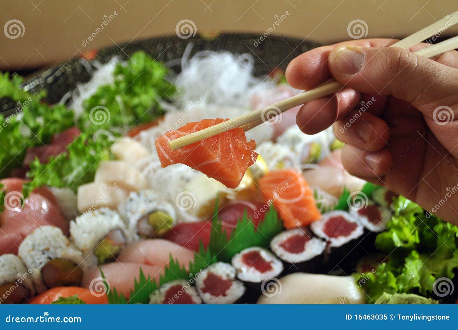 eating sushi royalty free stock photo image 16463035. Black Bedroom Furniture Sets. Home Design Ideas