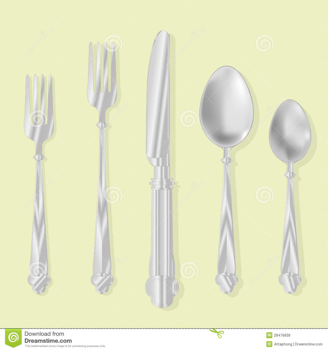 Eating Utensils Vector Royalty Free Stock Images - Image ...