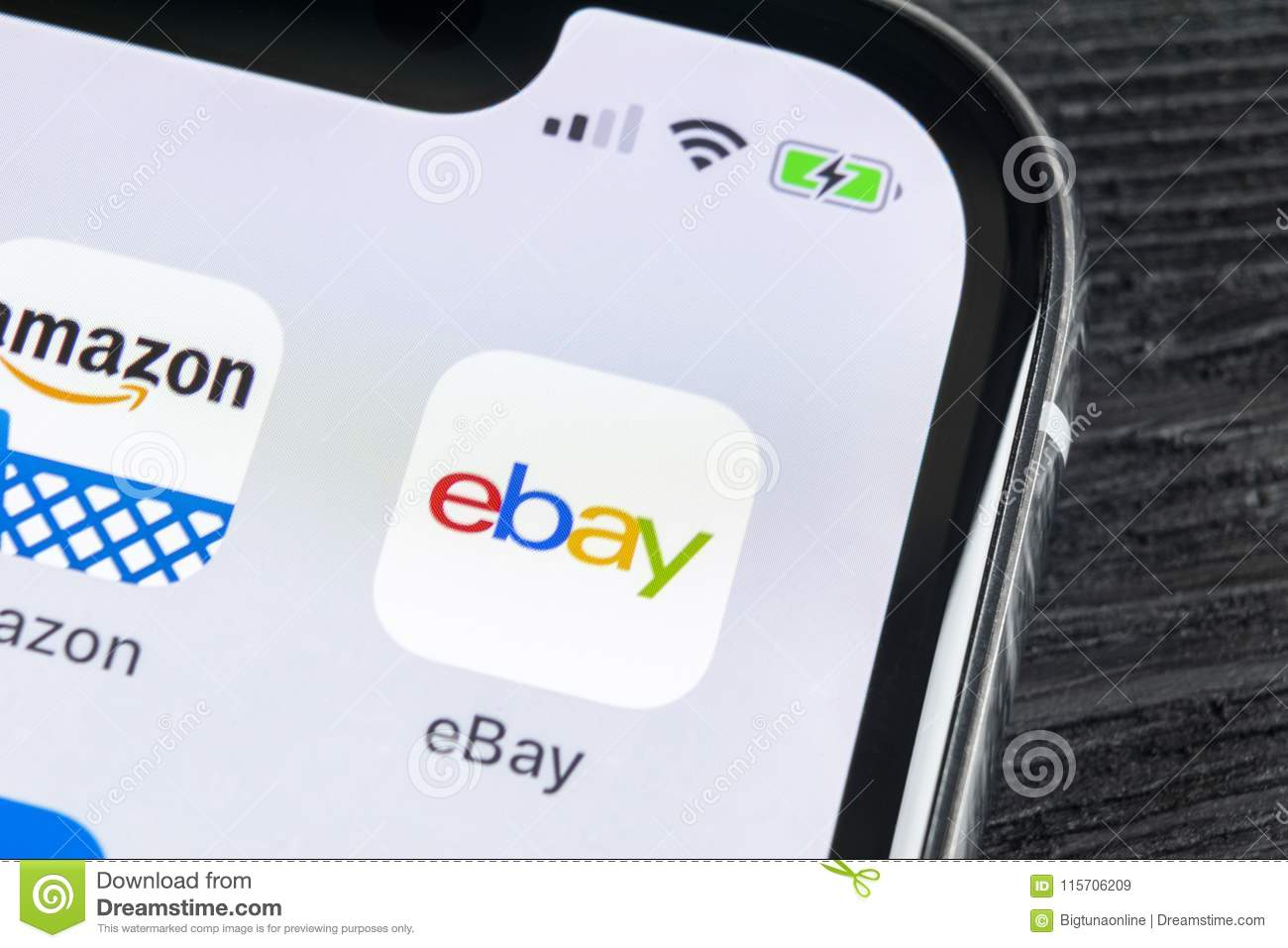 Ebay Application Icon On Apple Iphone X Screen Close Up Ebay App Icon Ebay Com Is Largest Online Auction And Shopping Websites Editorial Stock Image Image Of Closeup Illustrative 115706209