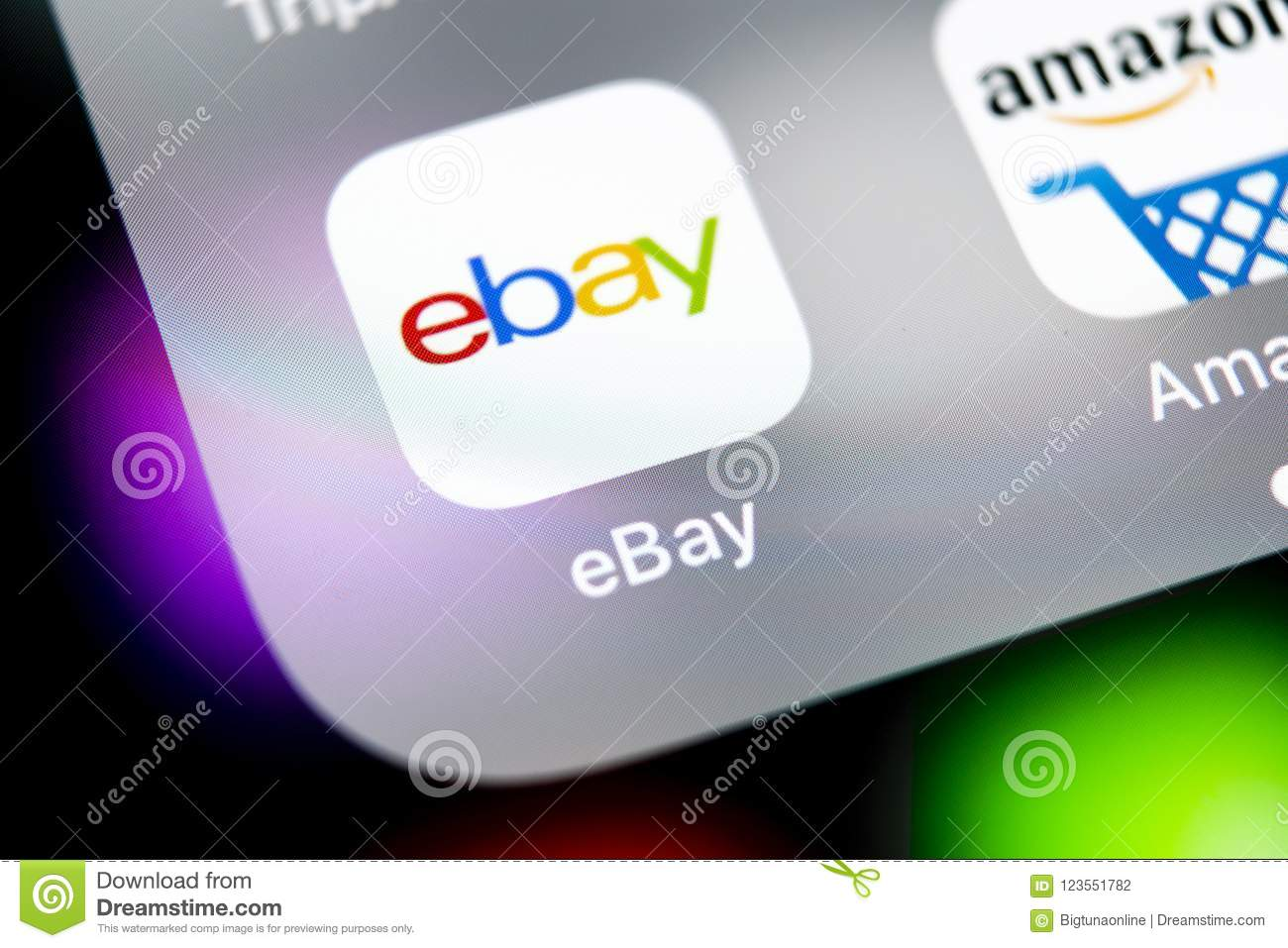 Ebay Application Icon On Apple Iphone X Screen Close Up Ebay App Icon Ebay Com Is Largest Online Auction And Shopping Websites Editorial Photography Image Of Homepage Economy 123551782