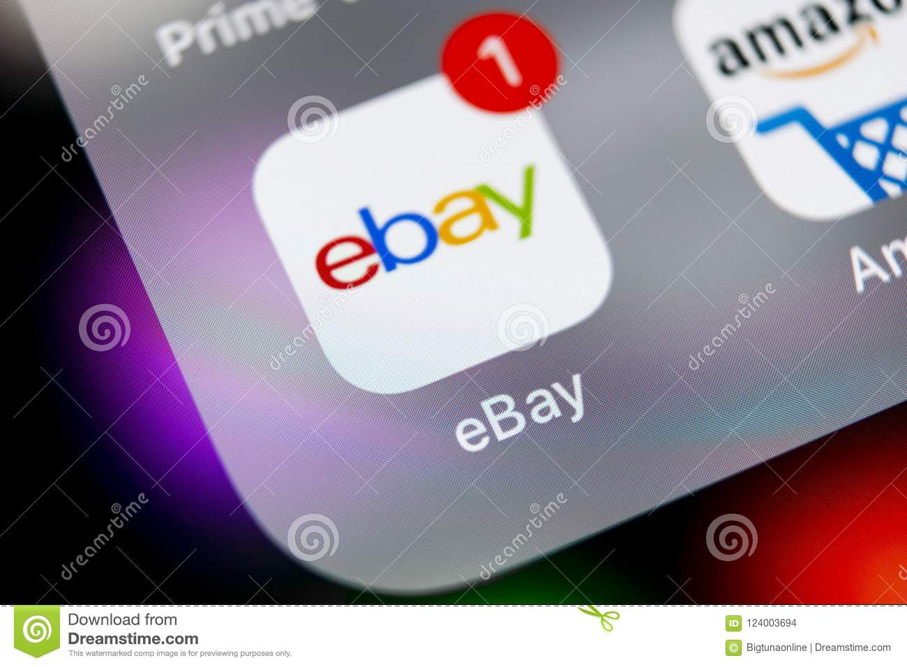 Ebay Application Icon On Apple Iphone X Screen Close Up Ebay App Icon Ebay Com Is Largest Online Auction And Shopping Websites Editorial Stock Image Image Of Internet Editorial 124003694