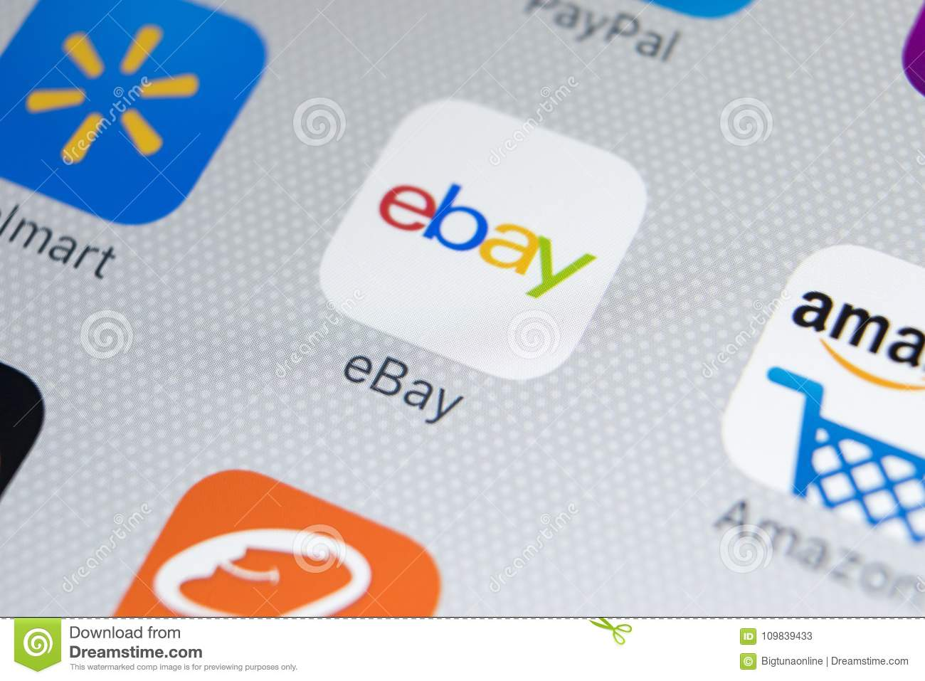 Ebay Application Icon On Apple Iphone X Screen Close Up Ebay App Icon Ebay Com Is Largest Online Auction And Shopping Websites Editorial Stock Photo Image Of Application Firm 109839433