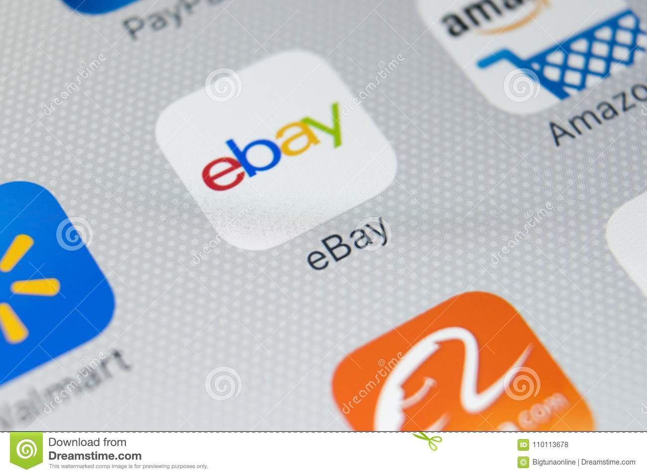 Ebay Application Icon On Apple Iphone X Screen Close Up Ebay App Icon Ebay Com Is Largest Online Auction And Shopping Websites Editorial Stock Photo Image Of Network Ebay 110113678