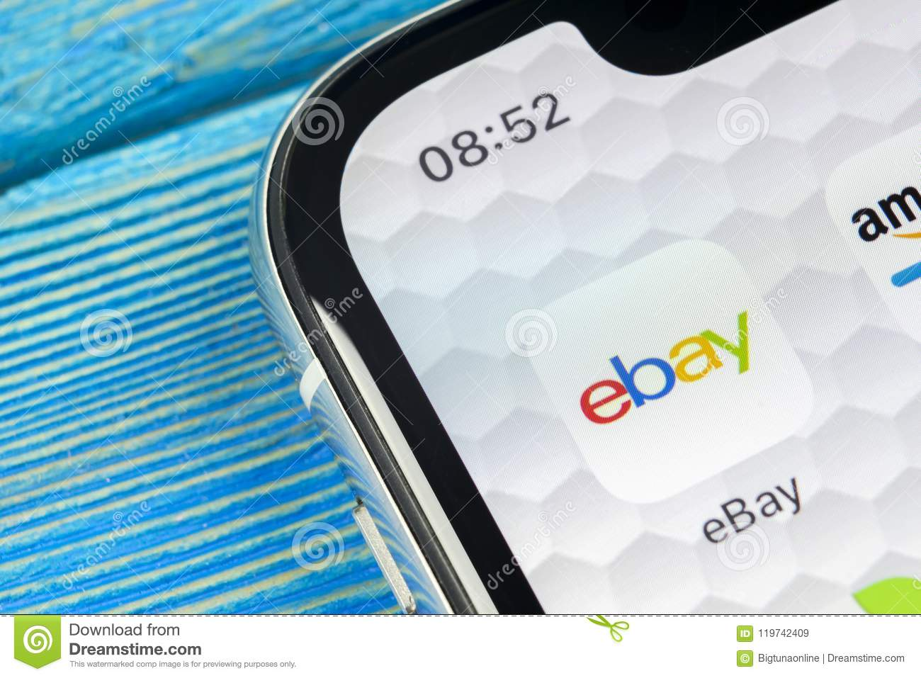Ebay Application Icon On Apple Iphone X Screen Close Up Ebay App Icon Ebay Com Is Largest Online Auction And Shopping Websites Editorial Stock Image Image Of Application Multinational 119742409