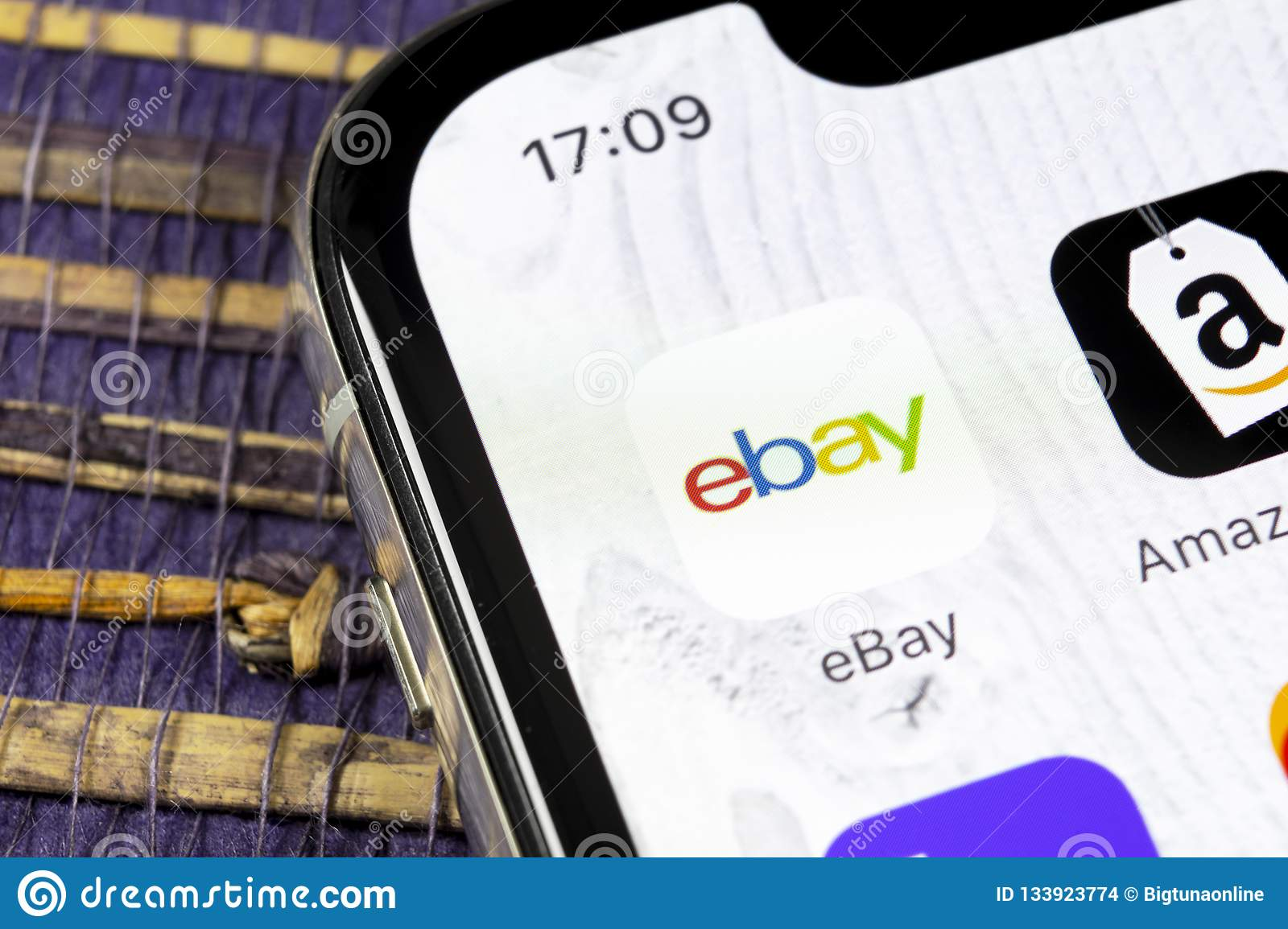 Ebay Application Icon On Apple Iphone X Screen Close Up Ebay App Icon Ebay Com Is Largest Online Auction And Shopping Websites Editorial Stock Image Image Of Industry December 133923774